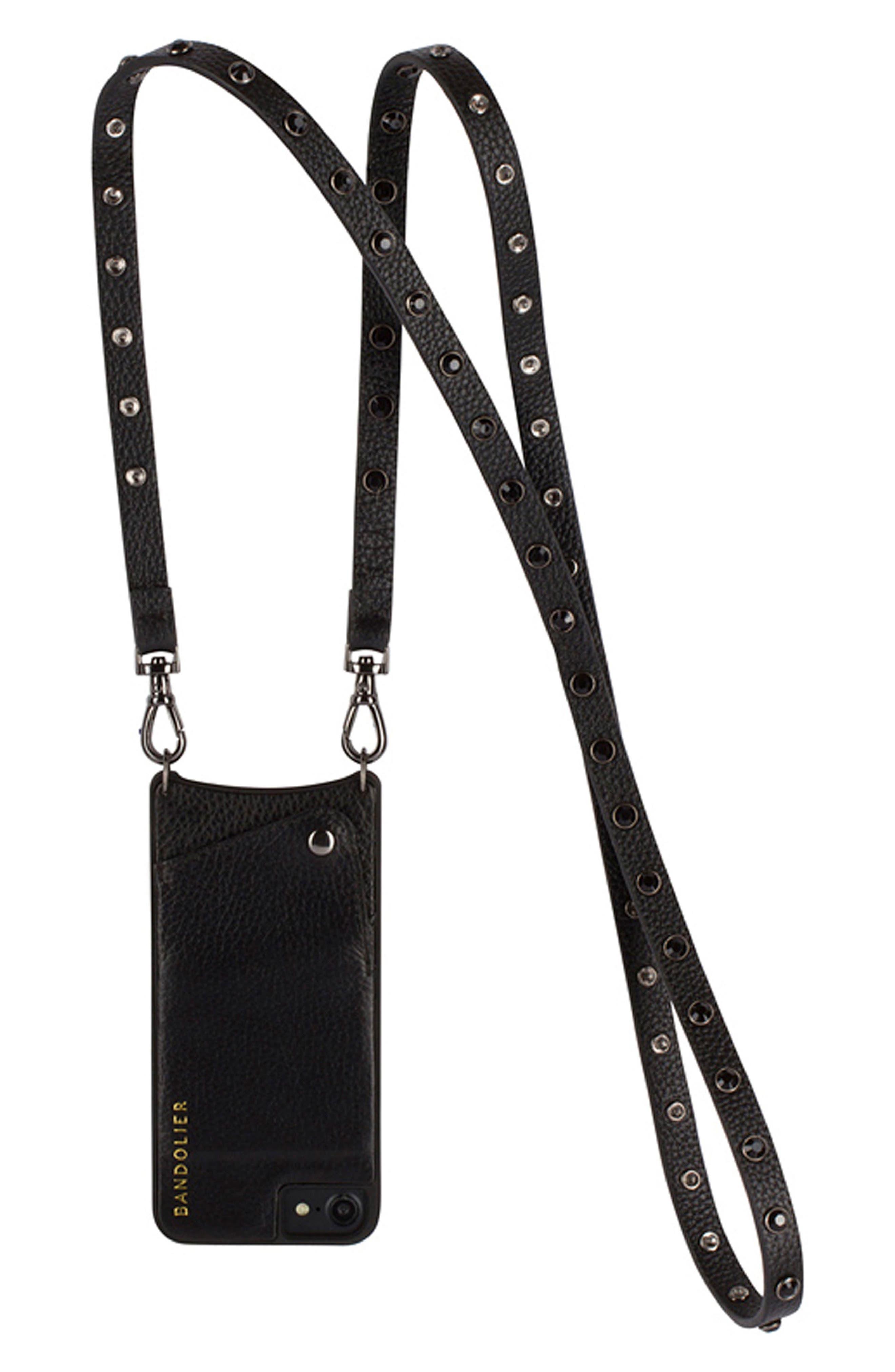 BANDOLIER Jules Leather iPhone 6/7 & 6/7 Plus Crossbody Case