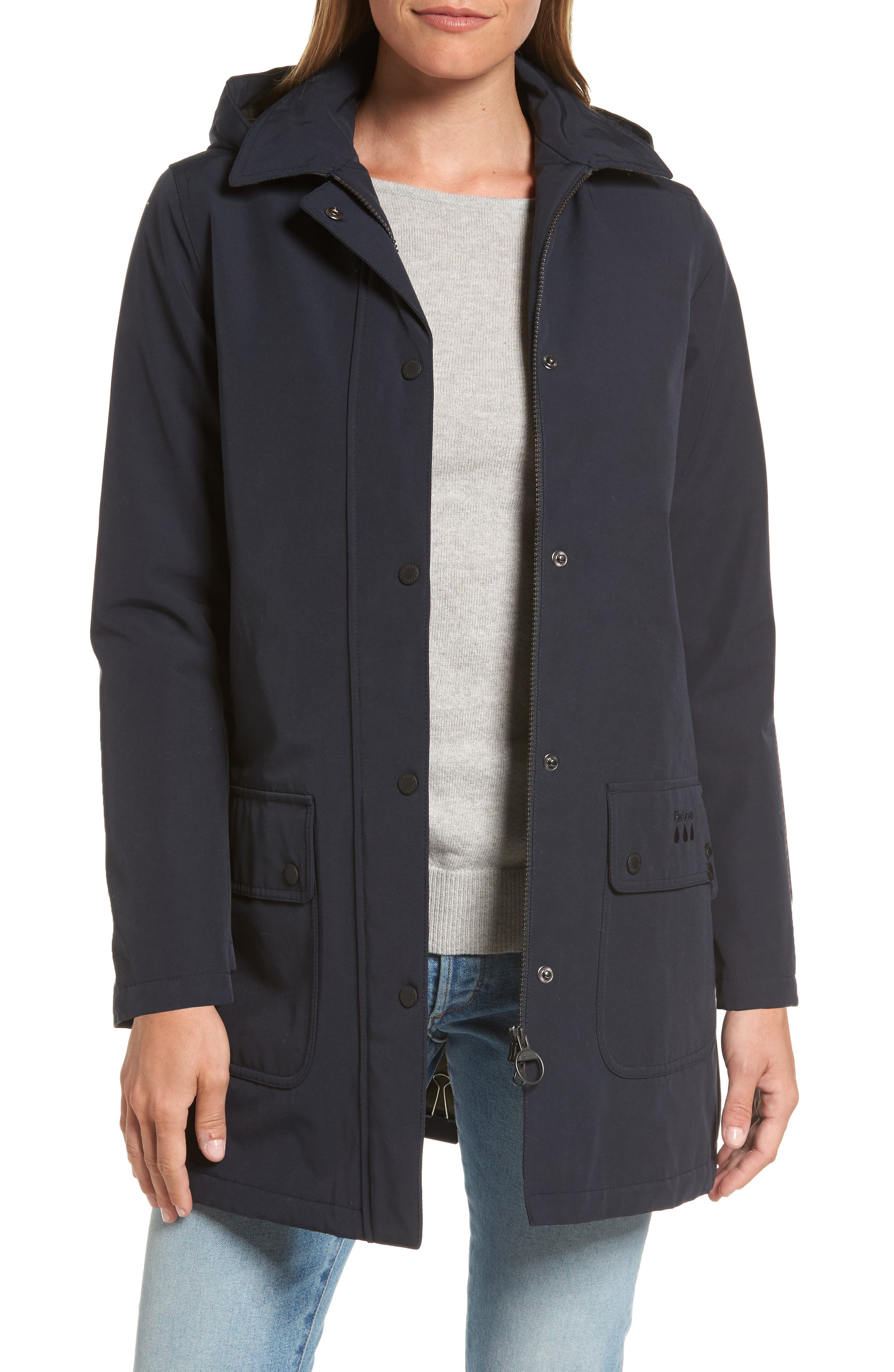 Alternate Image 1 Selected - Barbour Cirro Waterproof Hooded Jacket