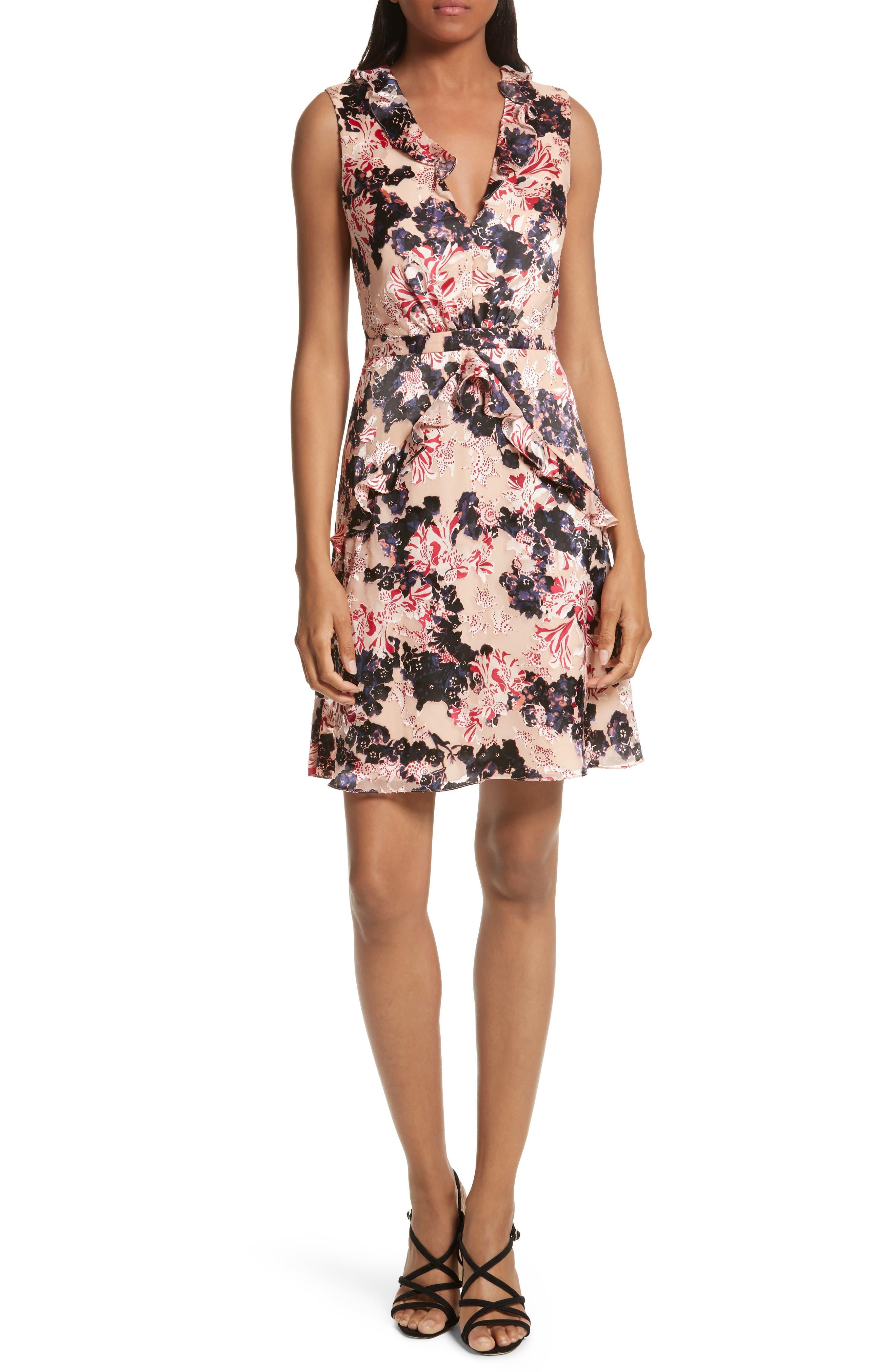 Lara Fit & Flare Dress,                         Main,                         color, Tigerlily