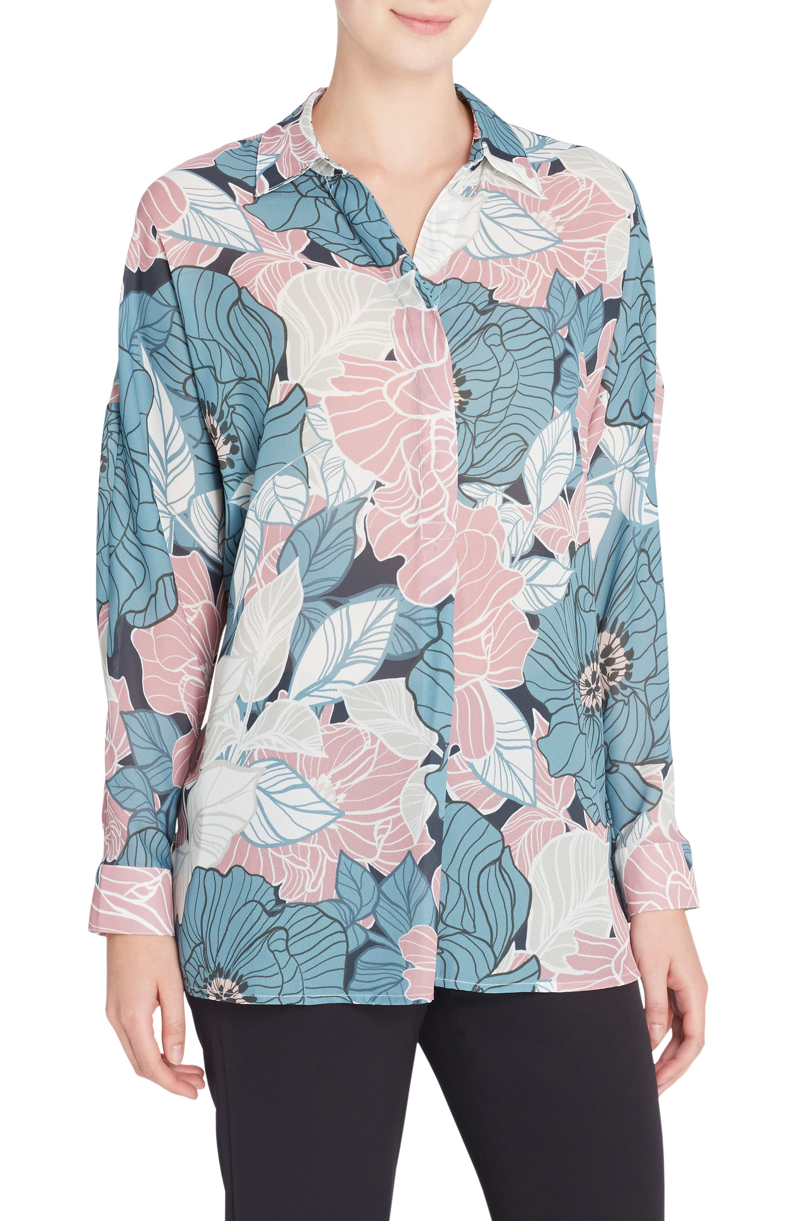 Jay Floral Blouse,                         Main,                         color, Sketchy Floral