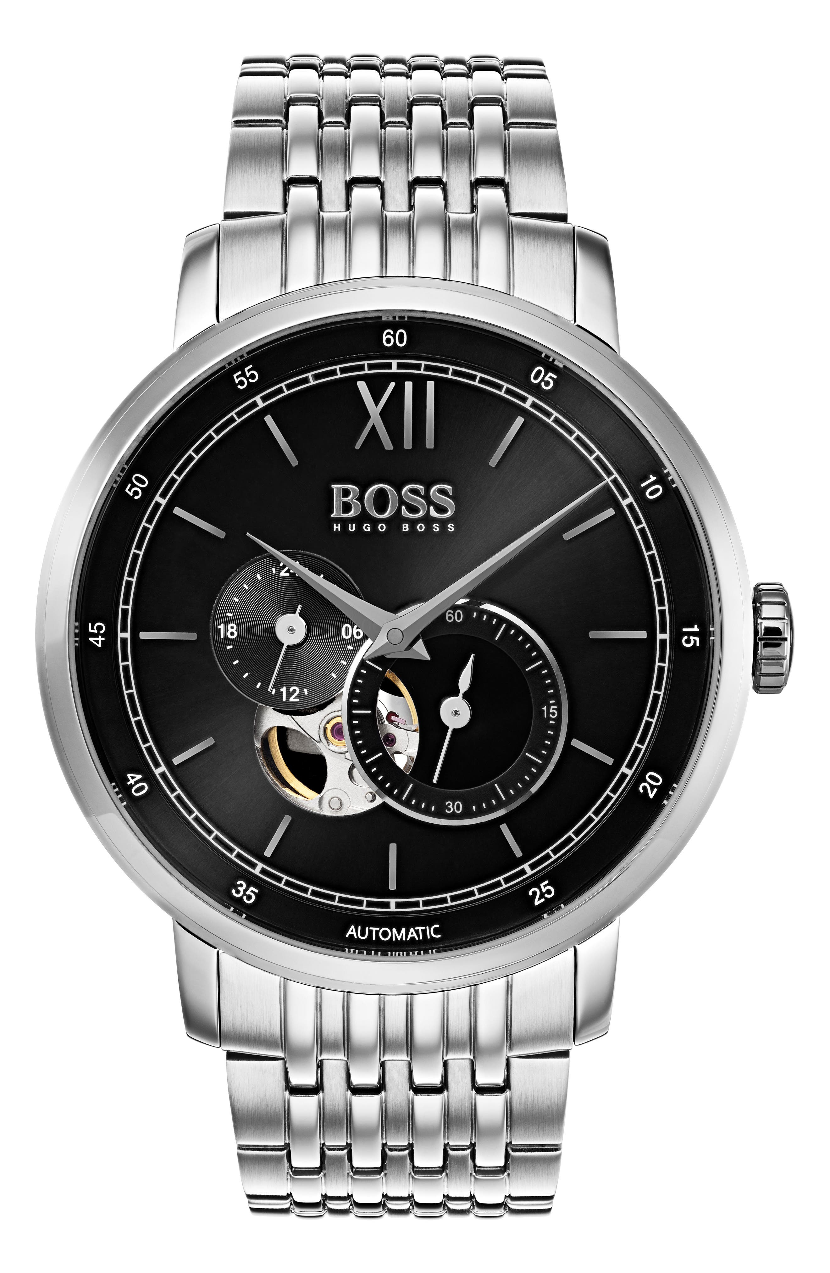 BOSS Signature Automatic Bracelet Watch, 44mm