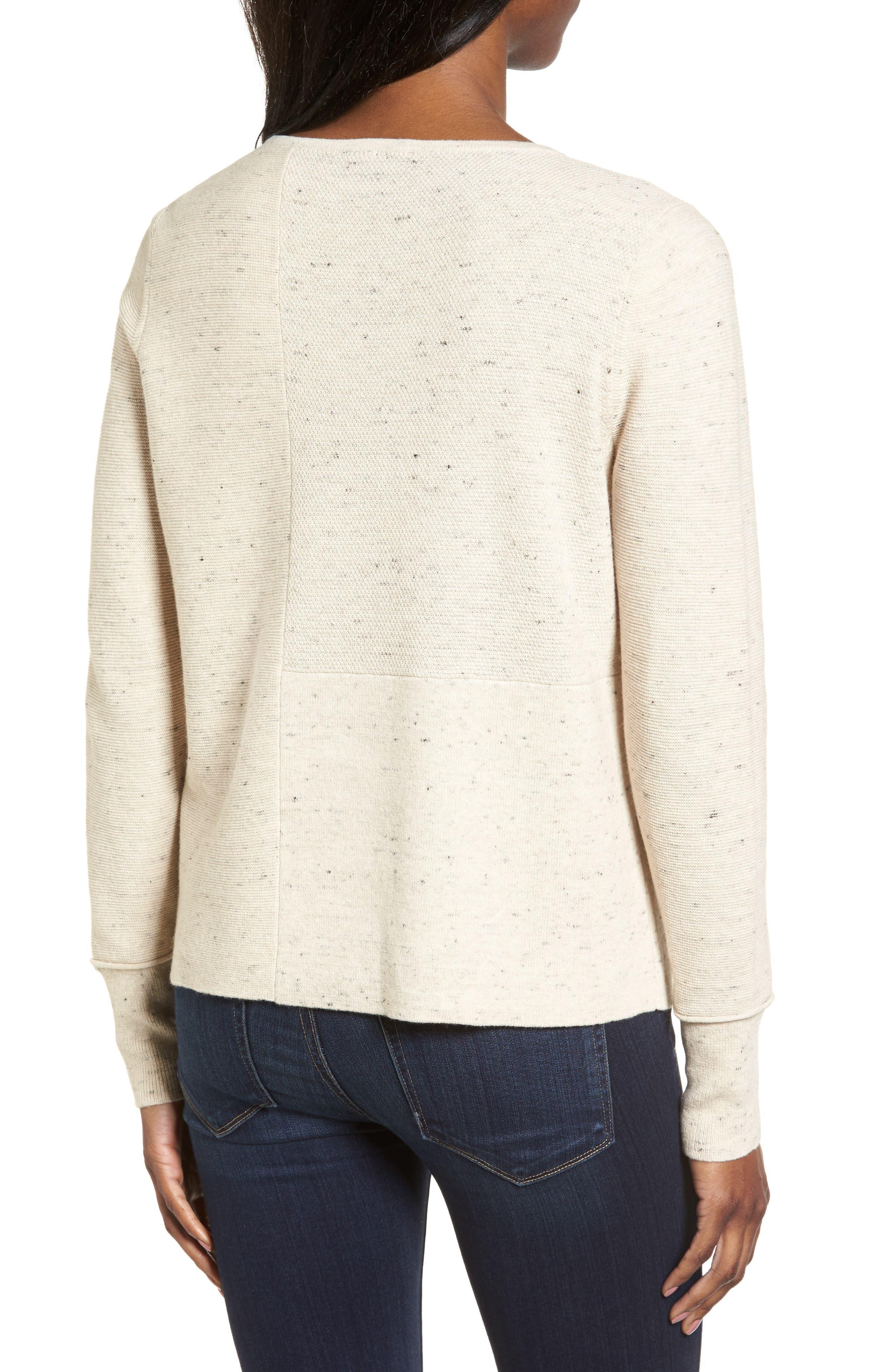 Alternate Image 2  - Eileen Fisher Mixed Stitch Sweater