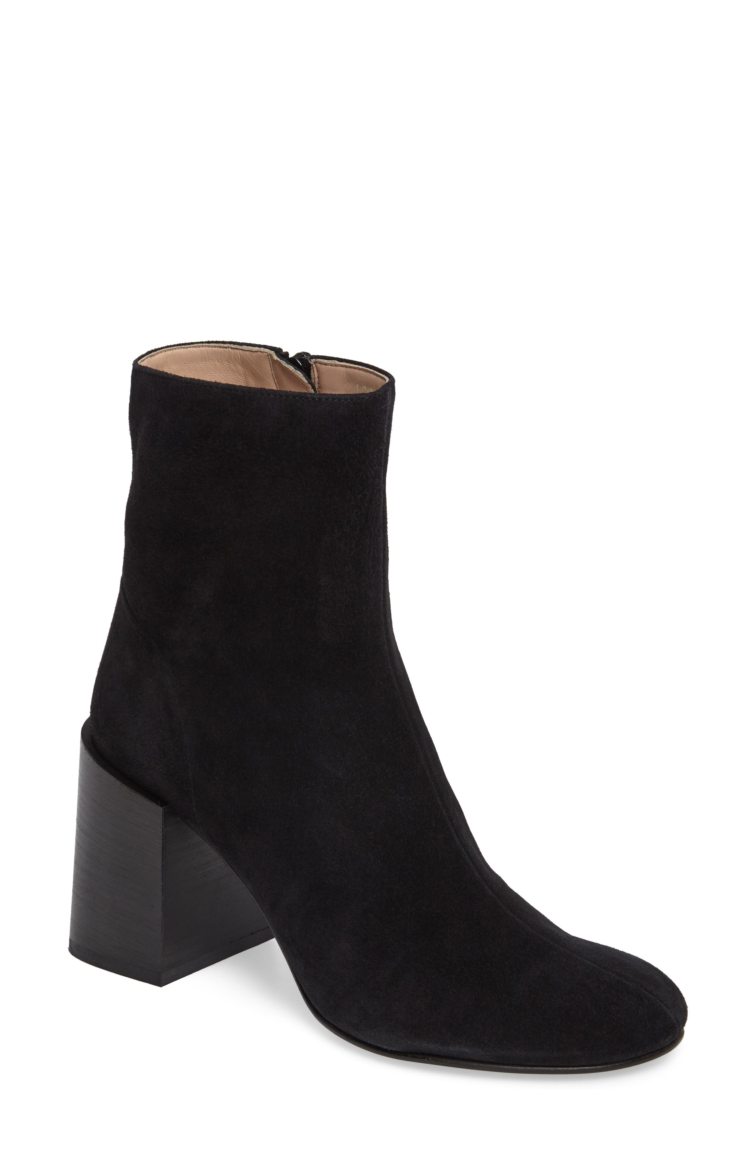 Acne Studios Saul Reverse Block Heel Bootie (Women)