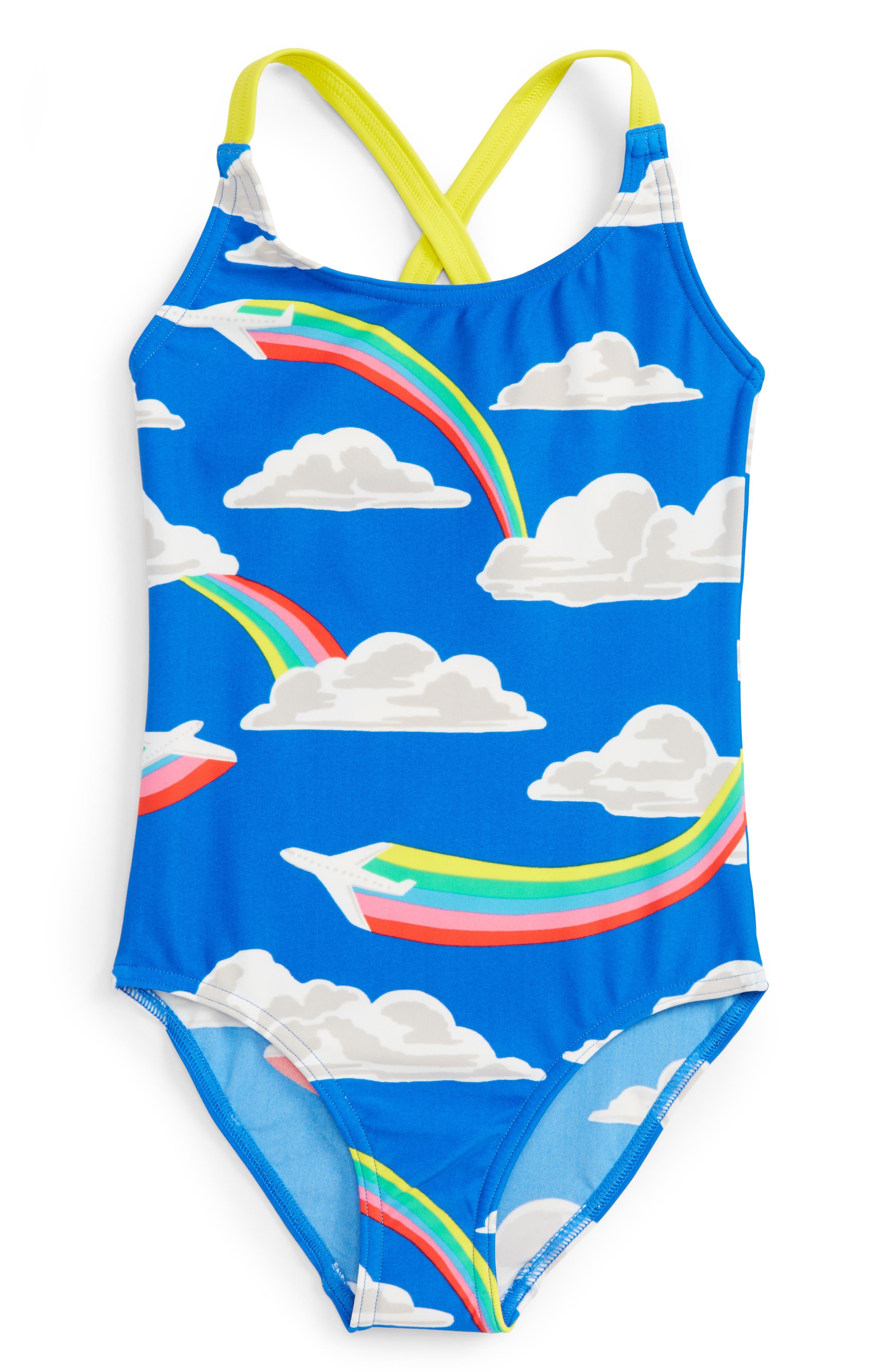 Main Image - Mini Boden Fun One-Piece Swimsuit (Toddler Girls, Little Girls & Big Girls)