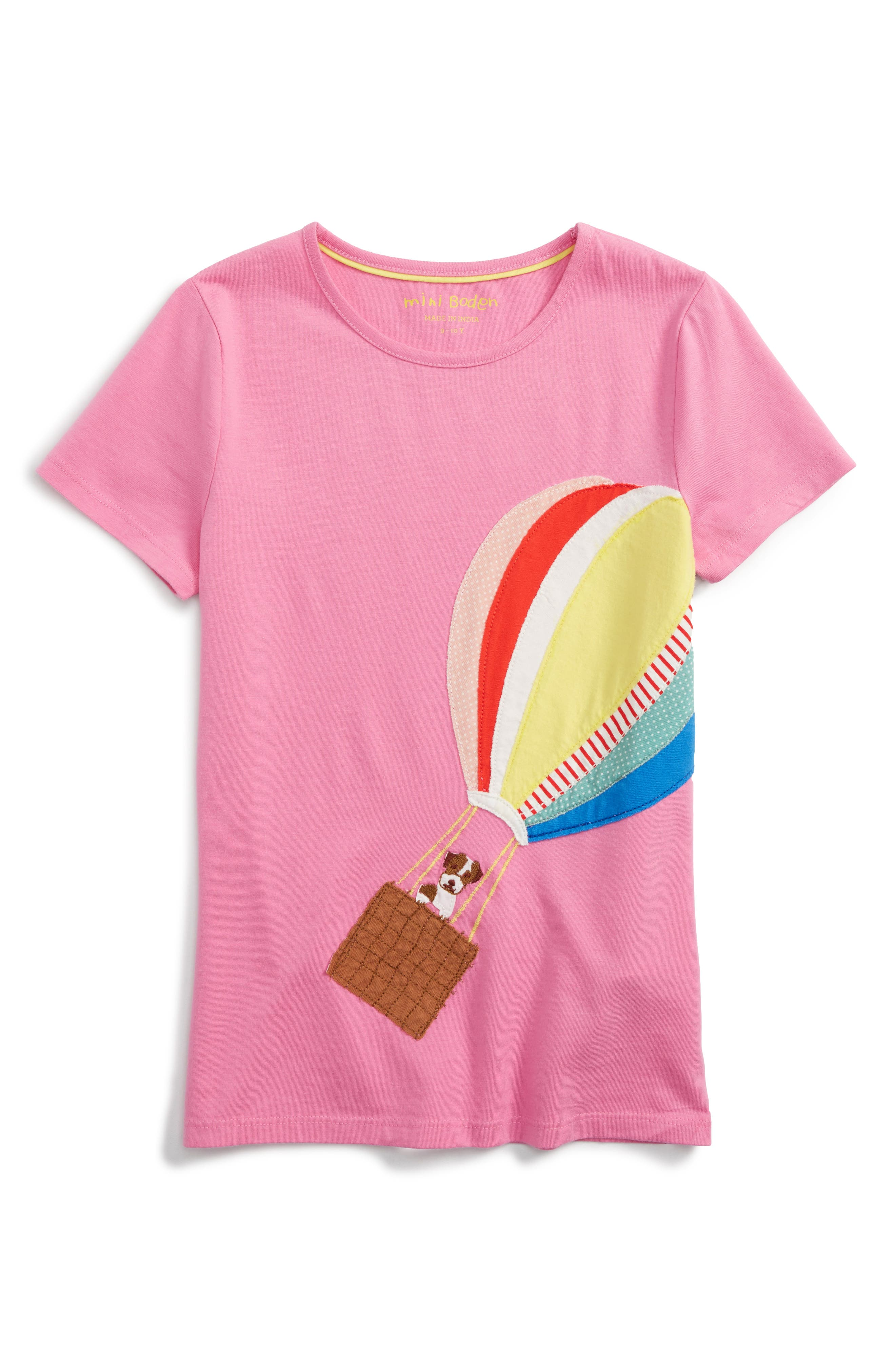 Mini Boden Vacation Appliqué Tee (Toddler Girls, Little Girls & Big Girls)