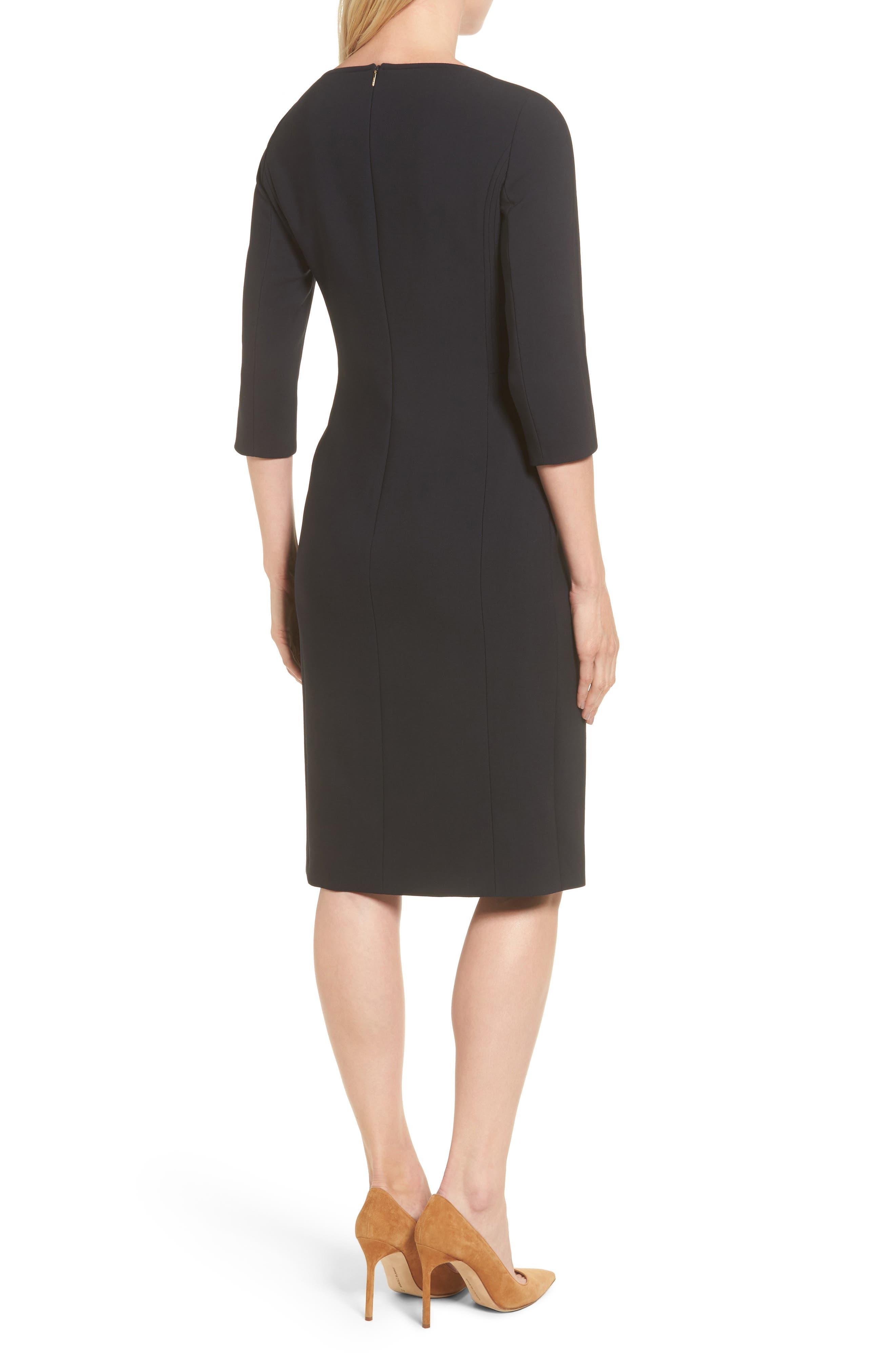 Alternate Image 2  - BOSS Dikena Wool Sheath Dress