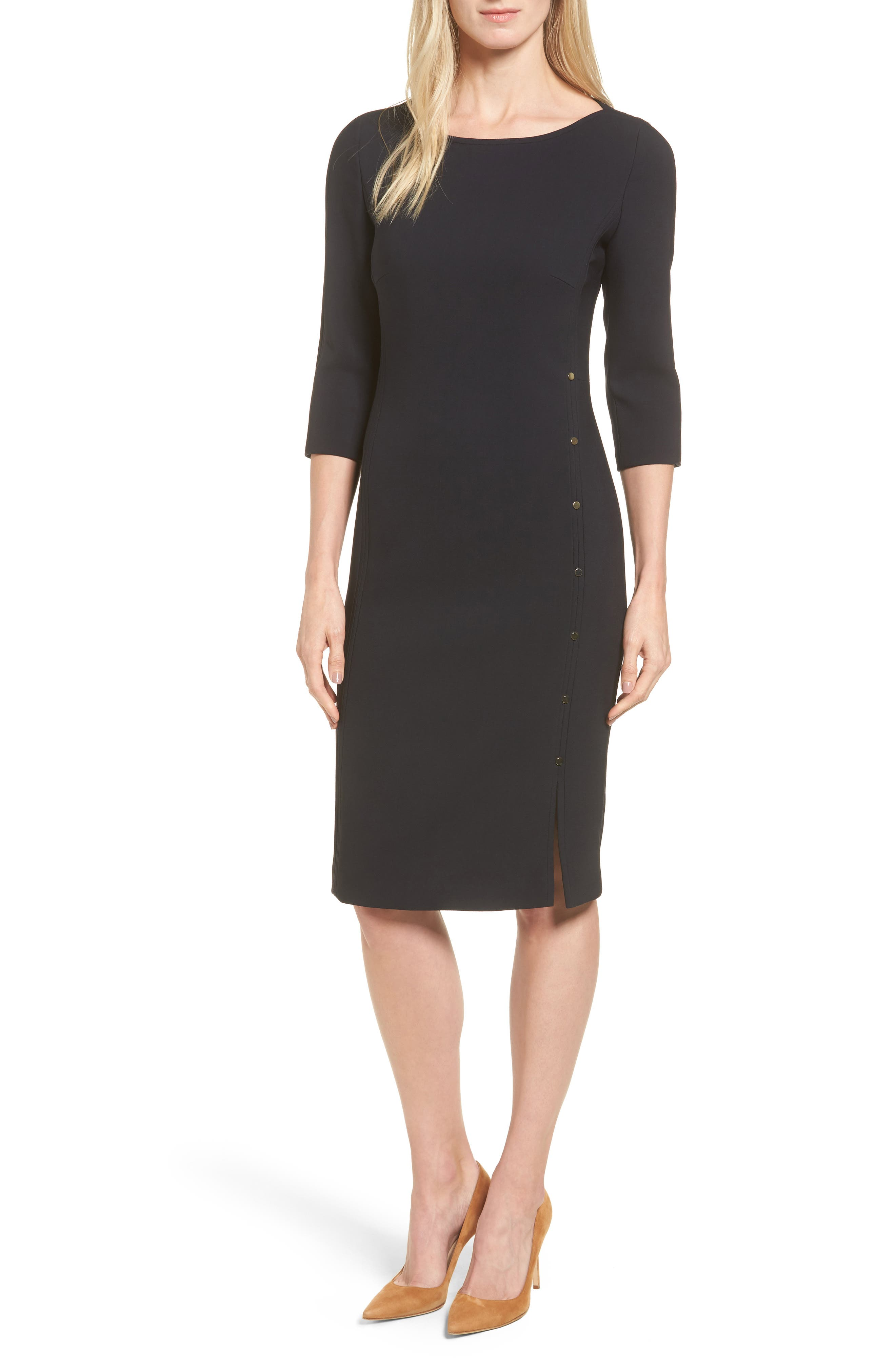 Main Image - BOSS Dikena Wool Sheath Dress