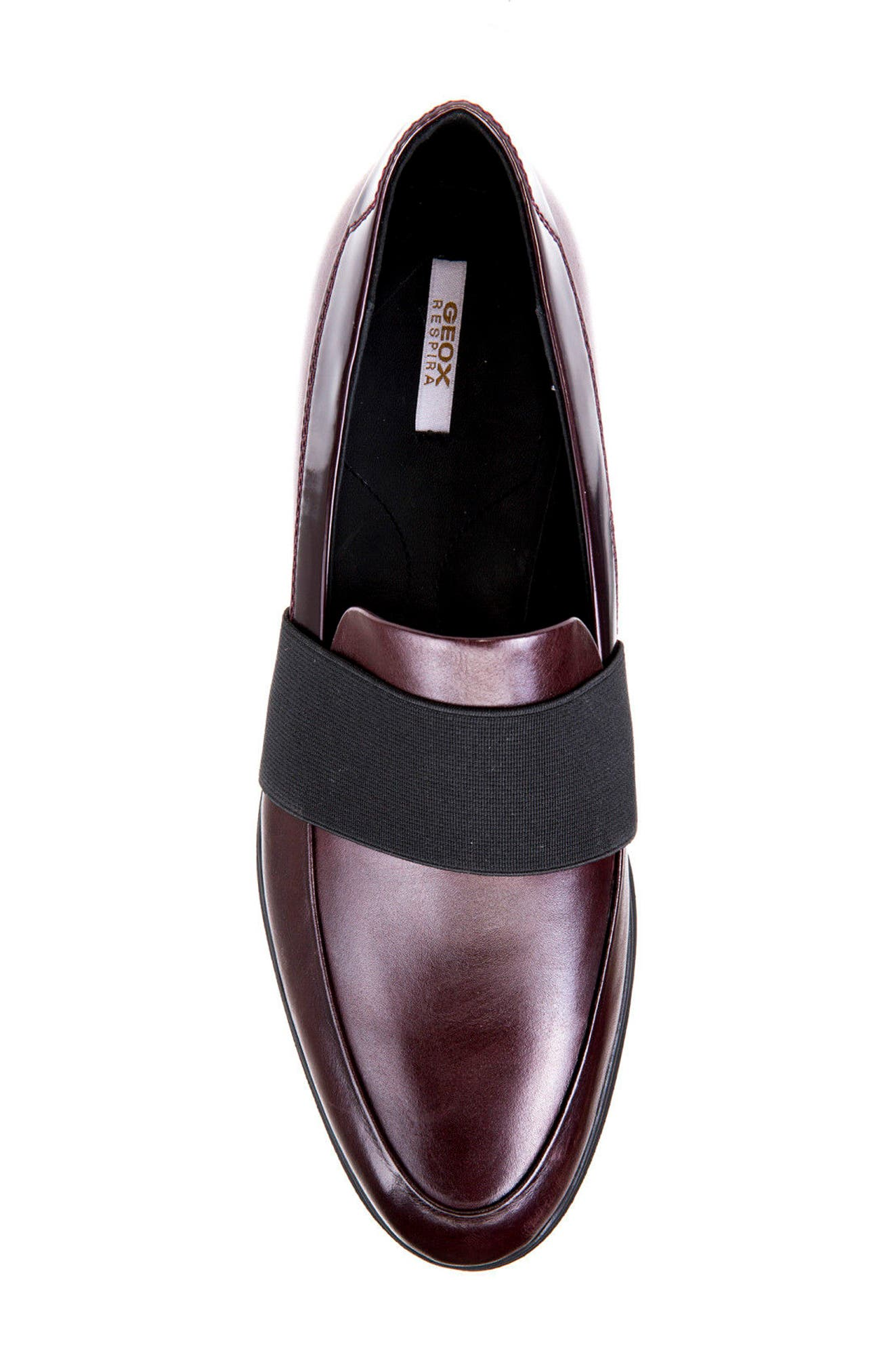 Jerrica Loafer,                             Alternate thumbnail 5, color,                             Dark Burgundy Leather