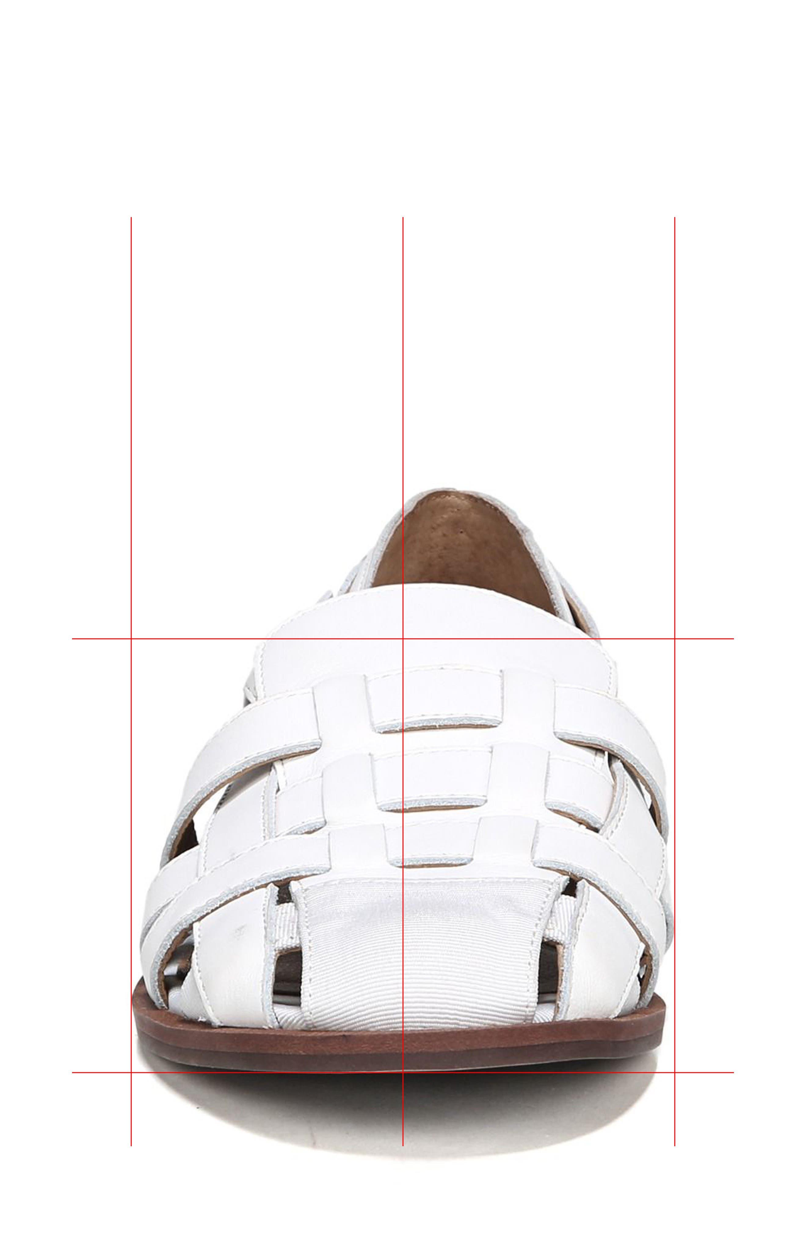 Lulu Fisherman Sandal,                             Alternate thumbnail 4, color,                             Bright White Leather