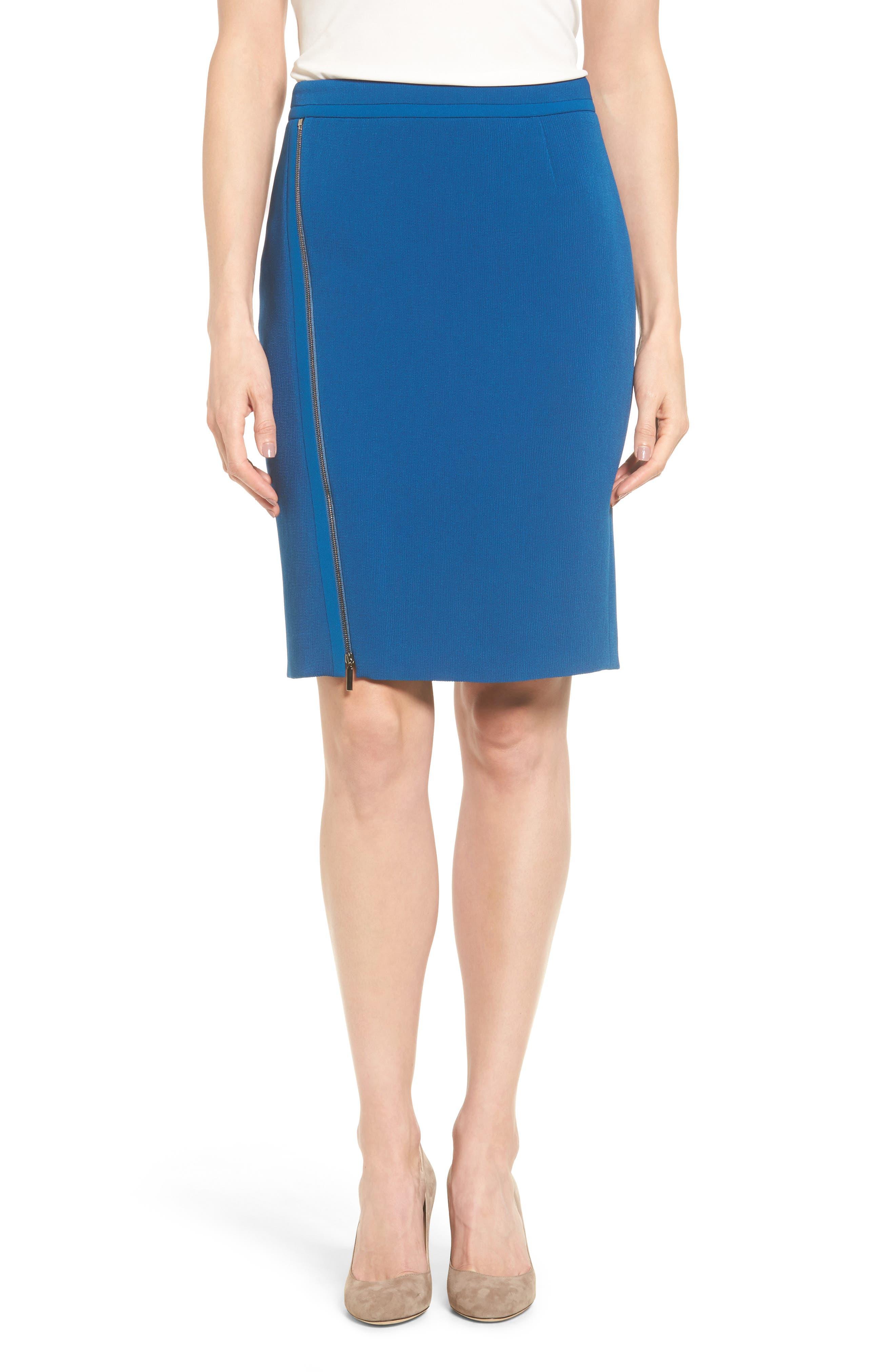 BOSS Vanafea Zip Detail Pencil Skirt