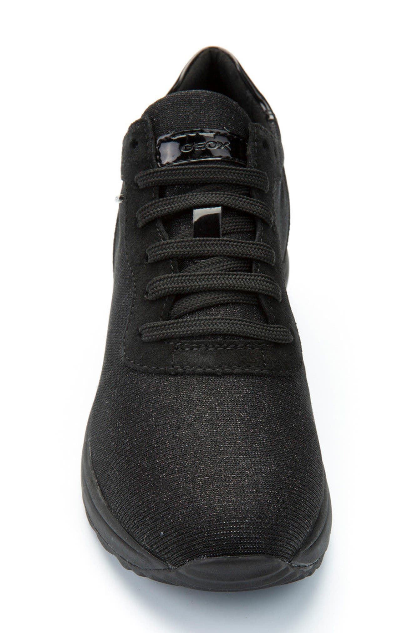 Airell Sneaker,                             Alternate thumbnail 4, color,                             Black Fabric
