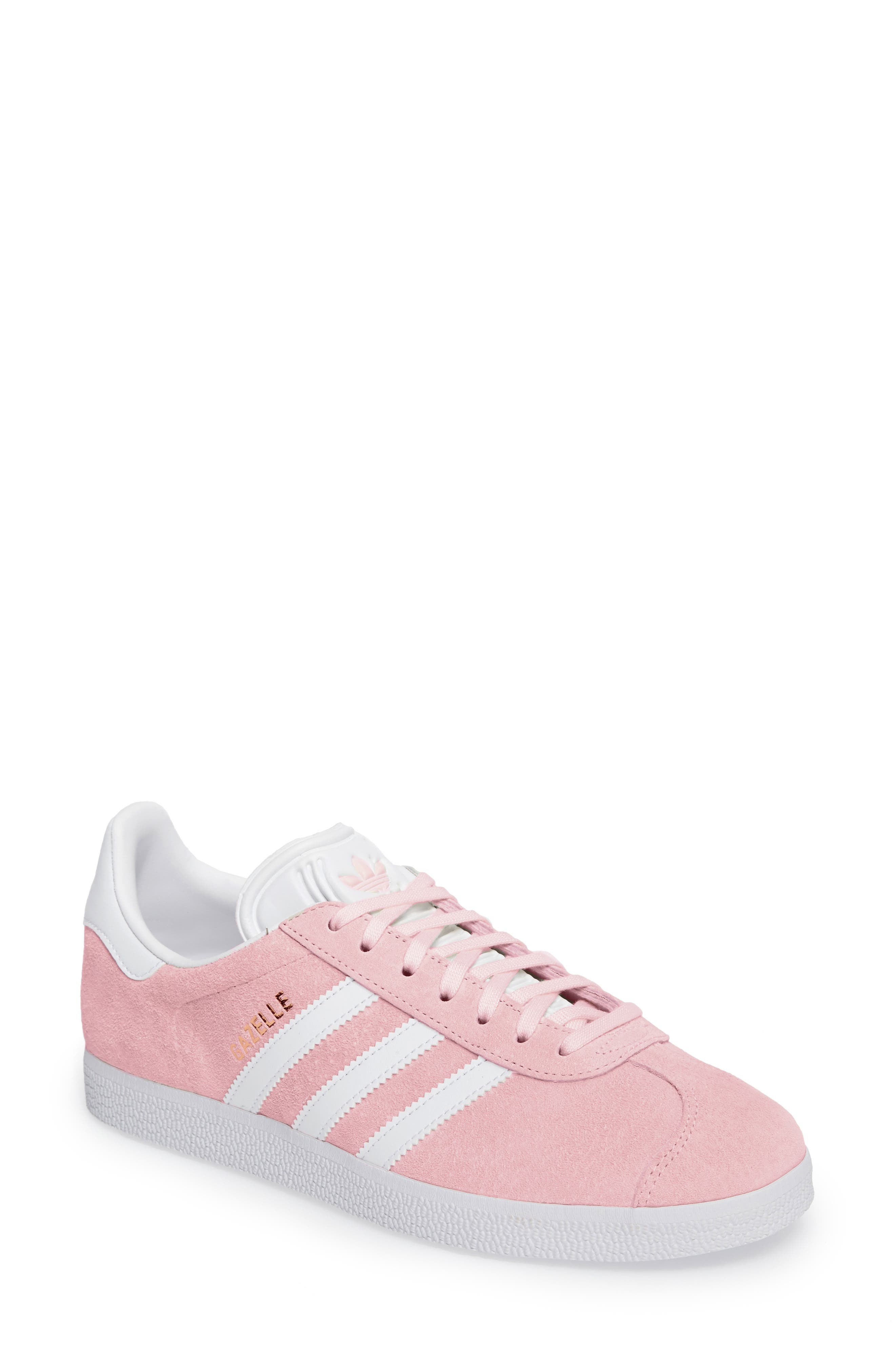 Main Image - adidas Gazelle Sneaker. Color: Wonder Pink/ White