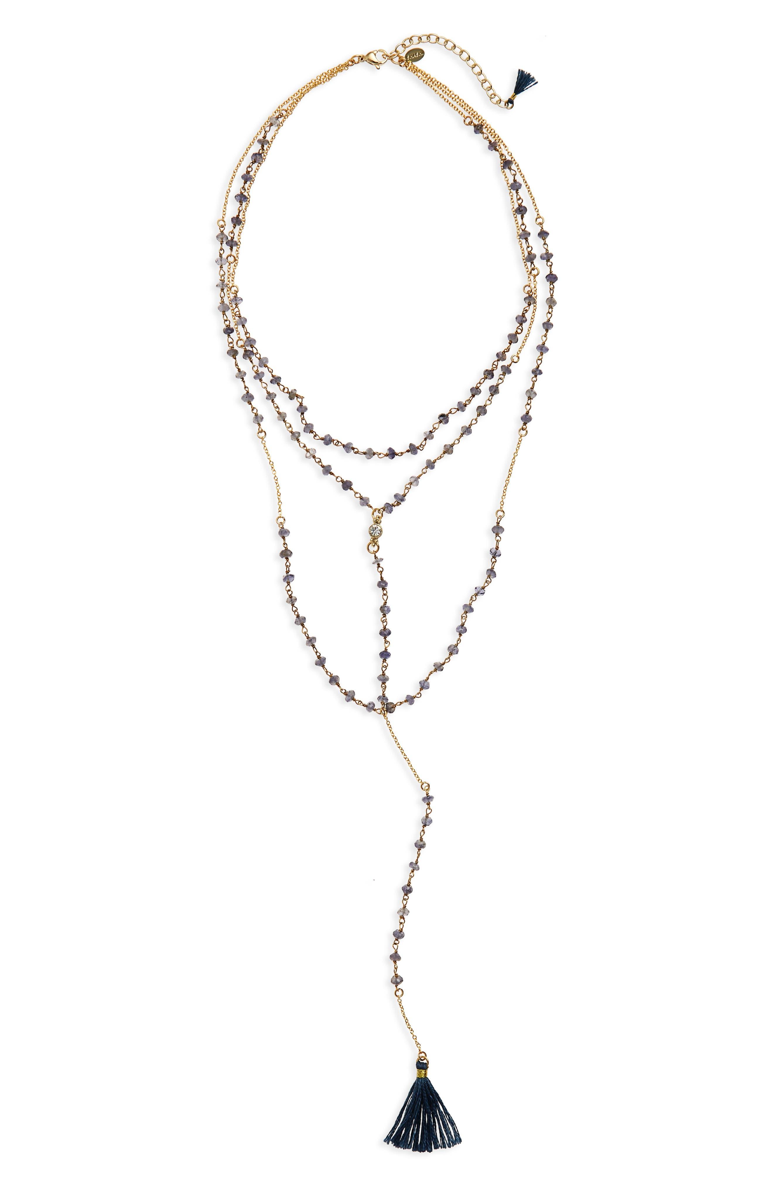 Main Image - Shashi Enne Layered Lariat Necklace