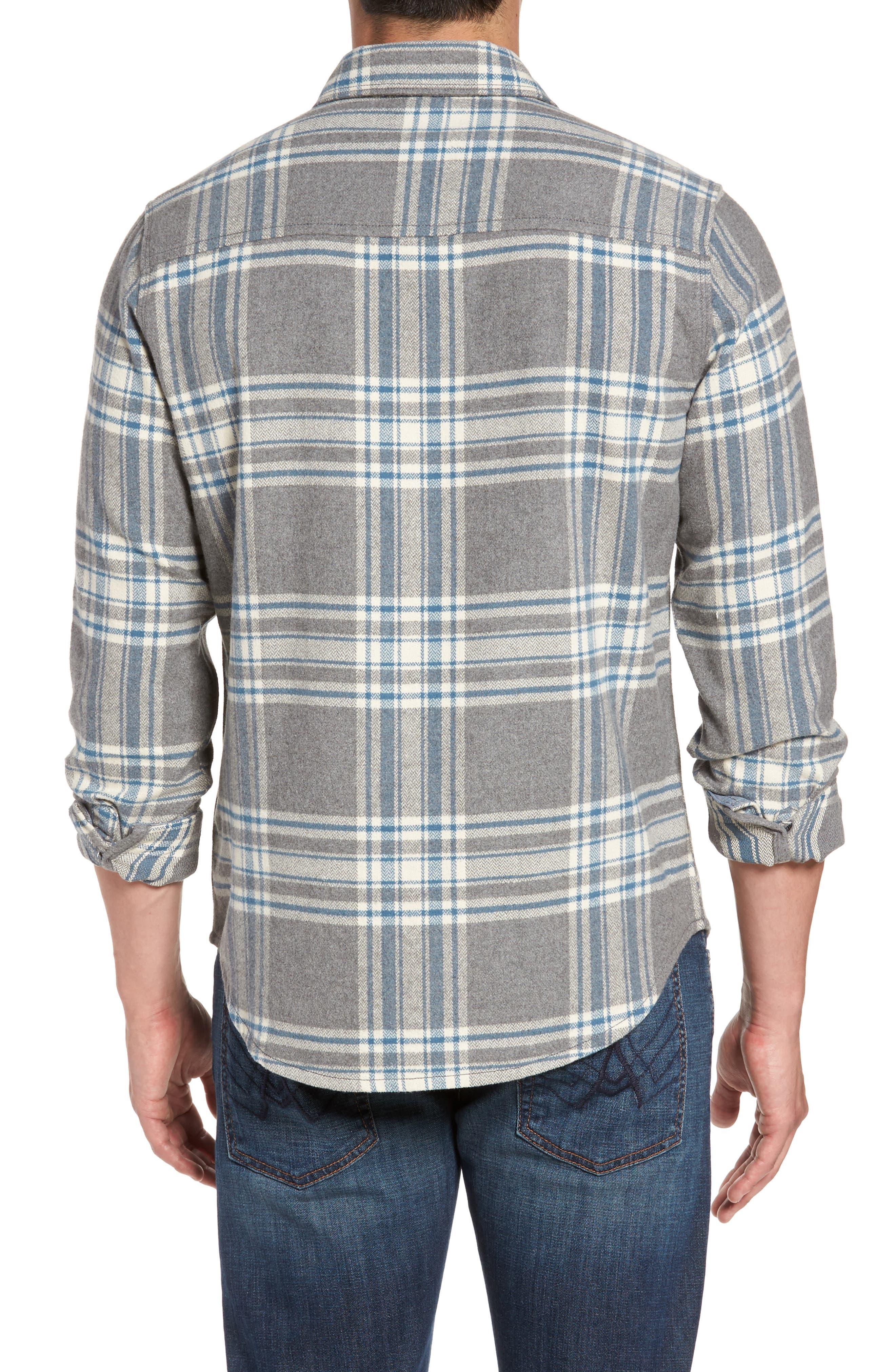 Alternate Image 2  - Jeremiah Marin Herringbone Plaid Flannel Shirt