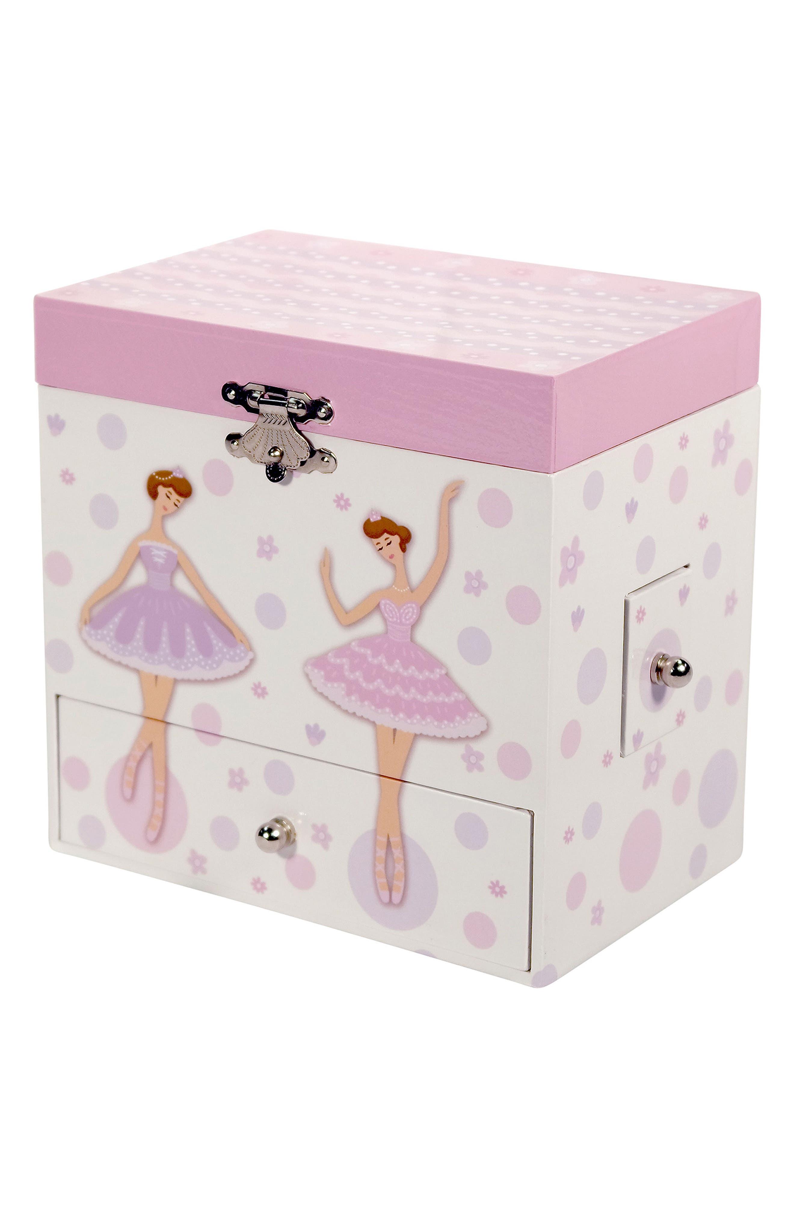 Jolie Musical Jewelry Box,                         Main,                         color, White