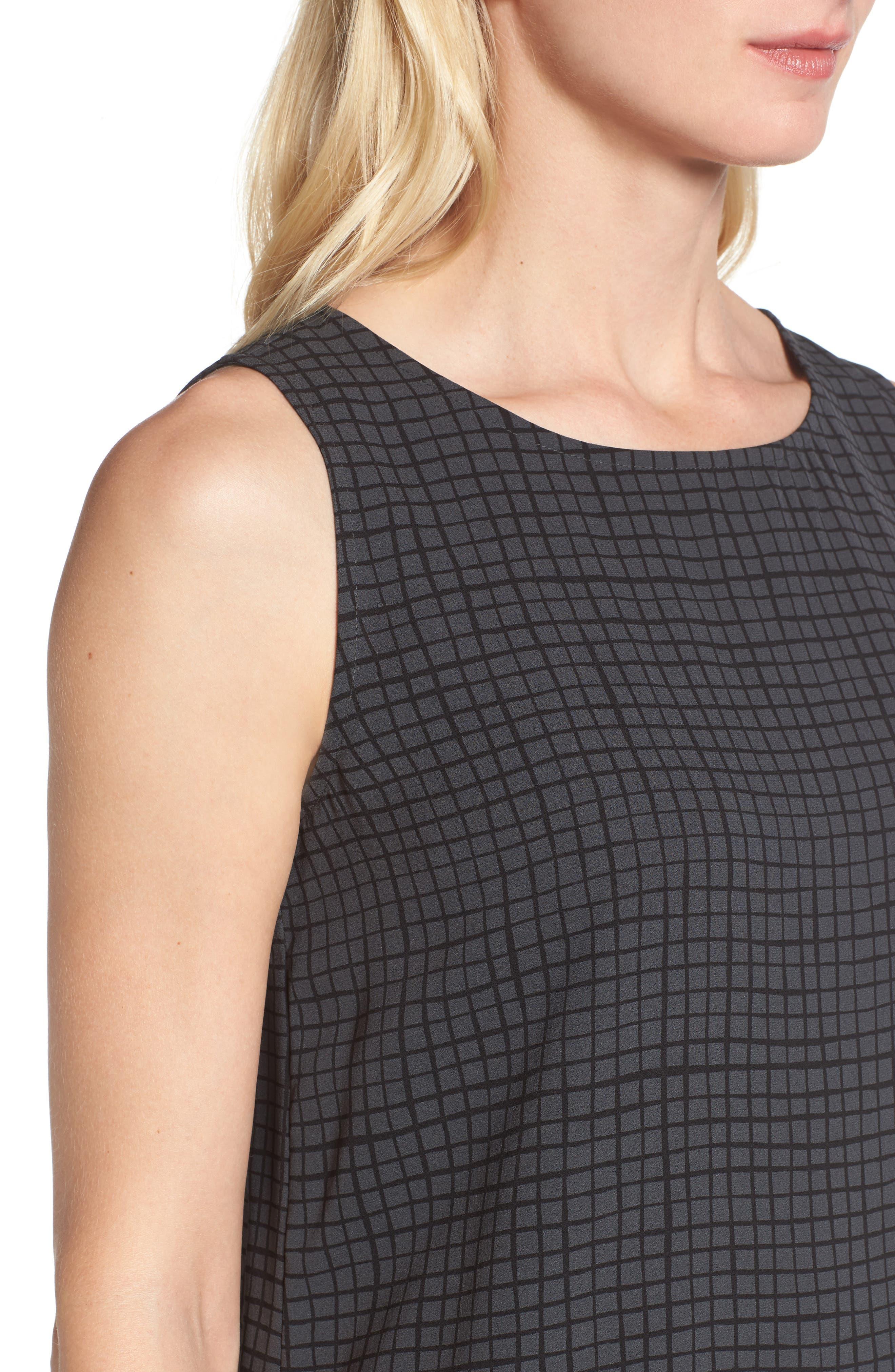 Alternate Image 4  - Eileen Fisher Check Silk Tunic
