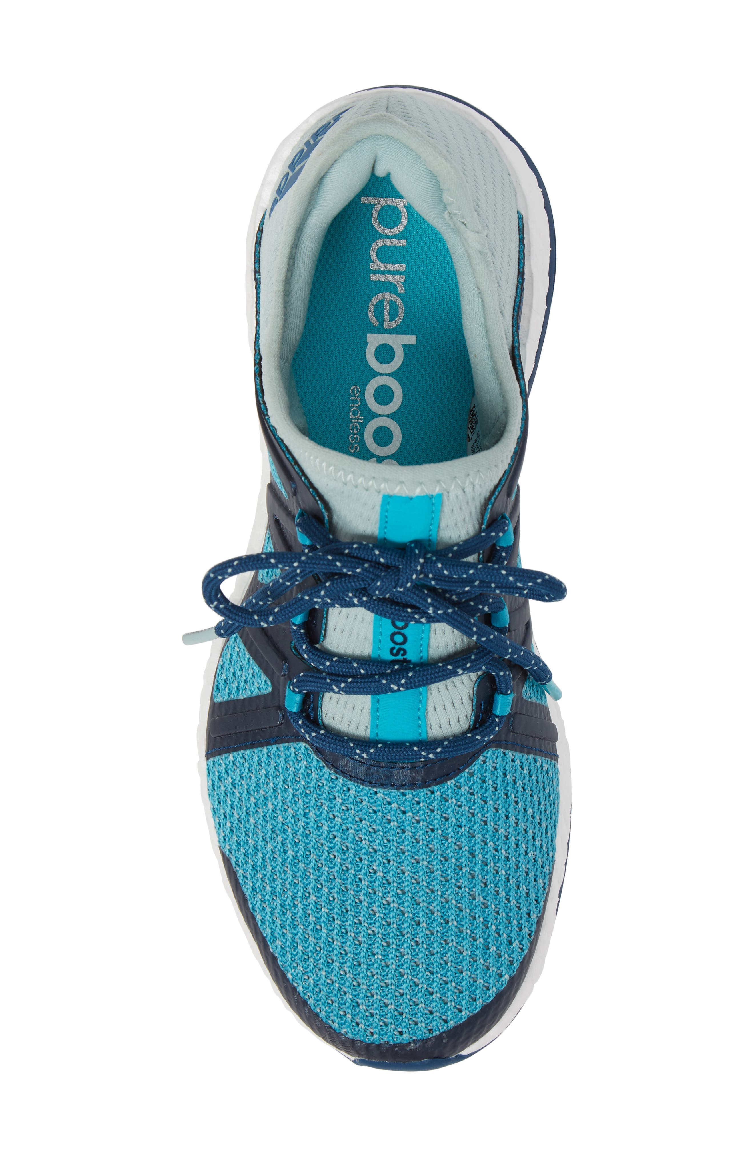 PureBOOST Xpose Running Shoe,                             Alternate thumbnail 3, color,                             Tactile Green/ Energy Blue
