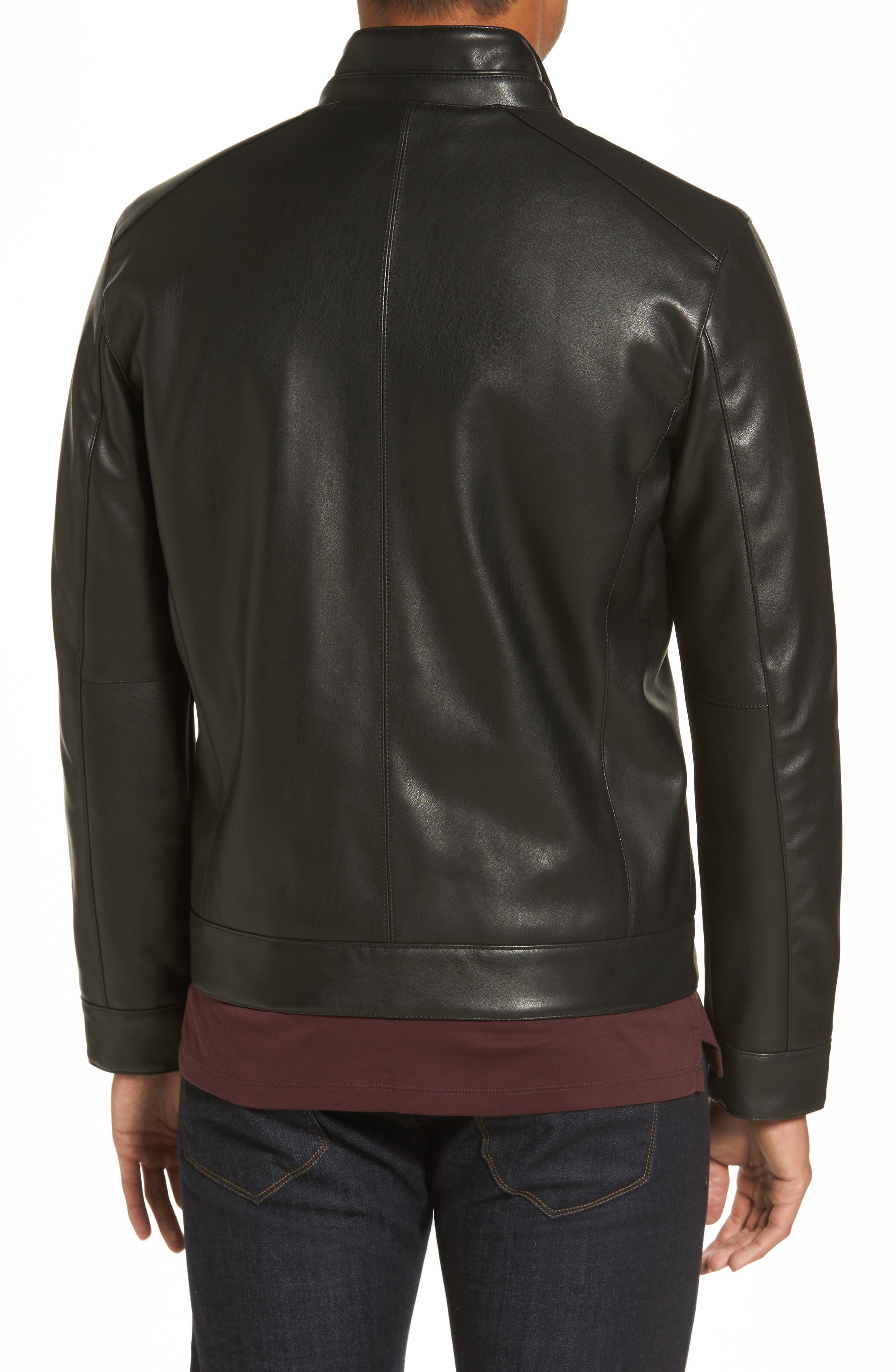 Alternate Image 2  - Cole Haan Faux Leather Jacket