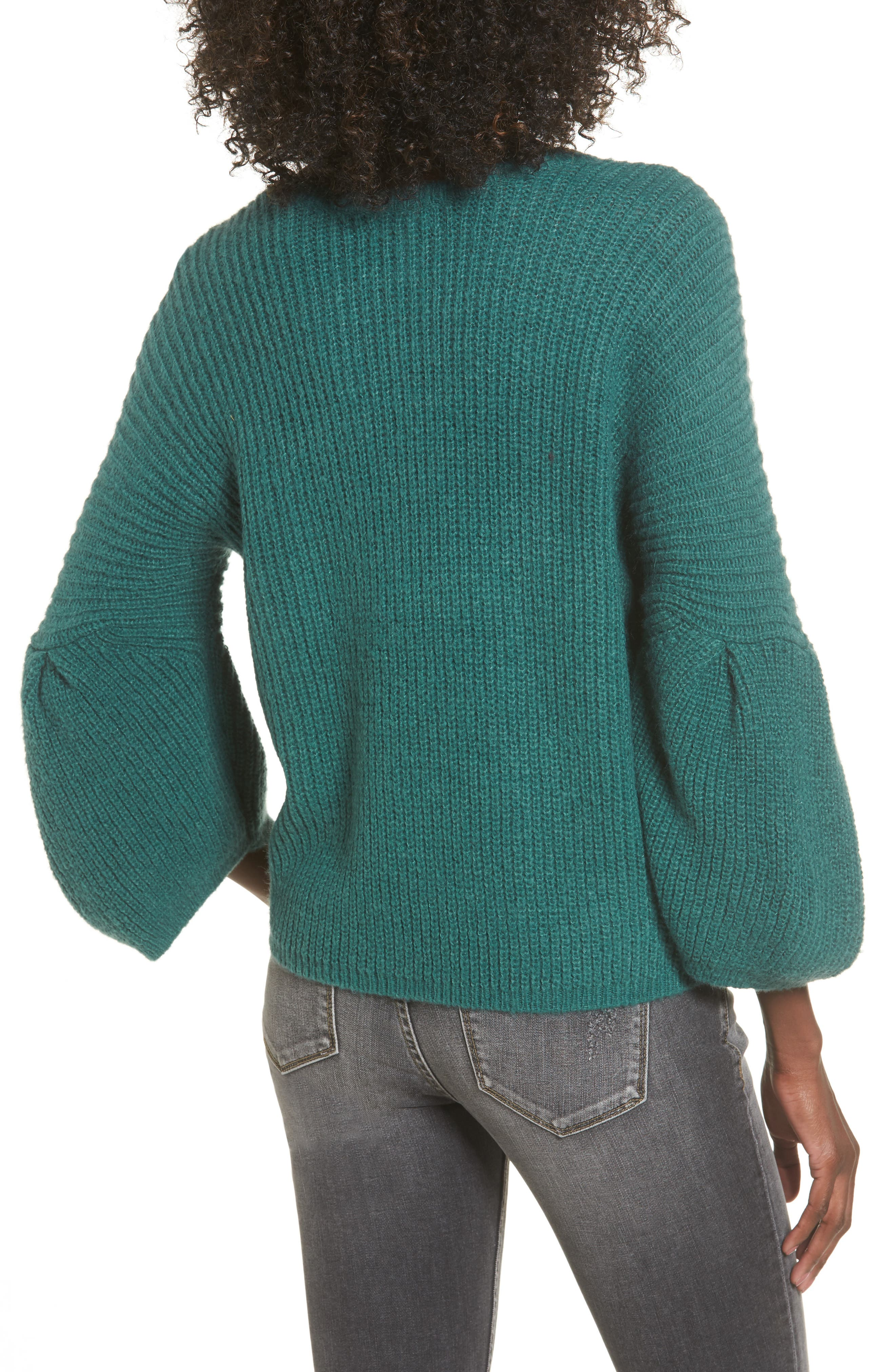 Alternate Image 2  - Leith Bubble Sleeve Sweater