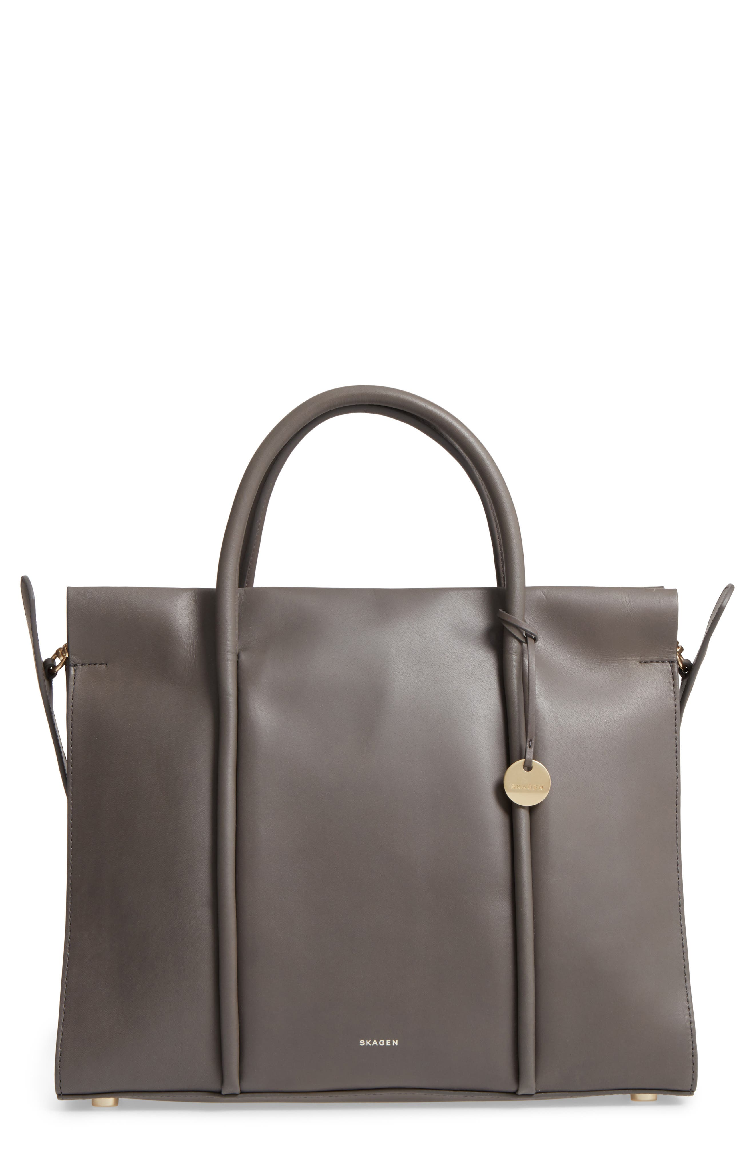 Skagen Katryn Recessed Leather Satchel