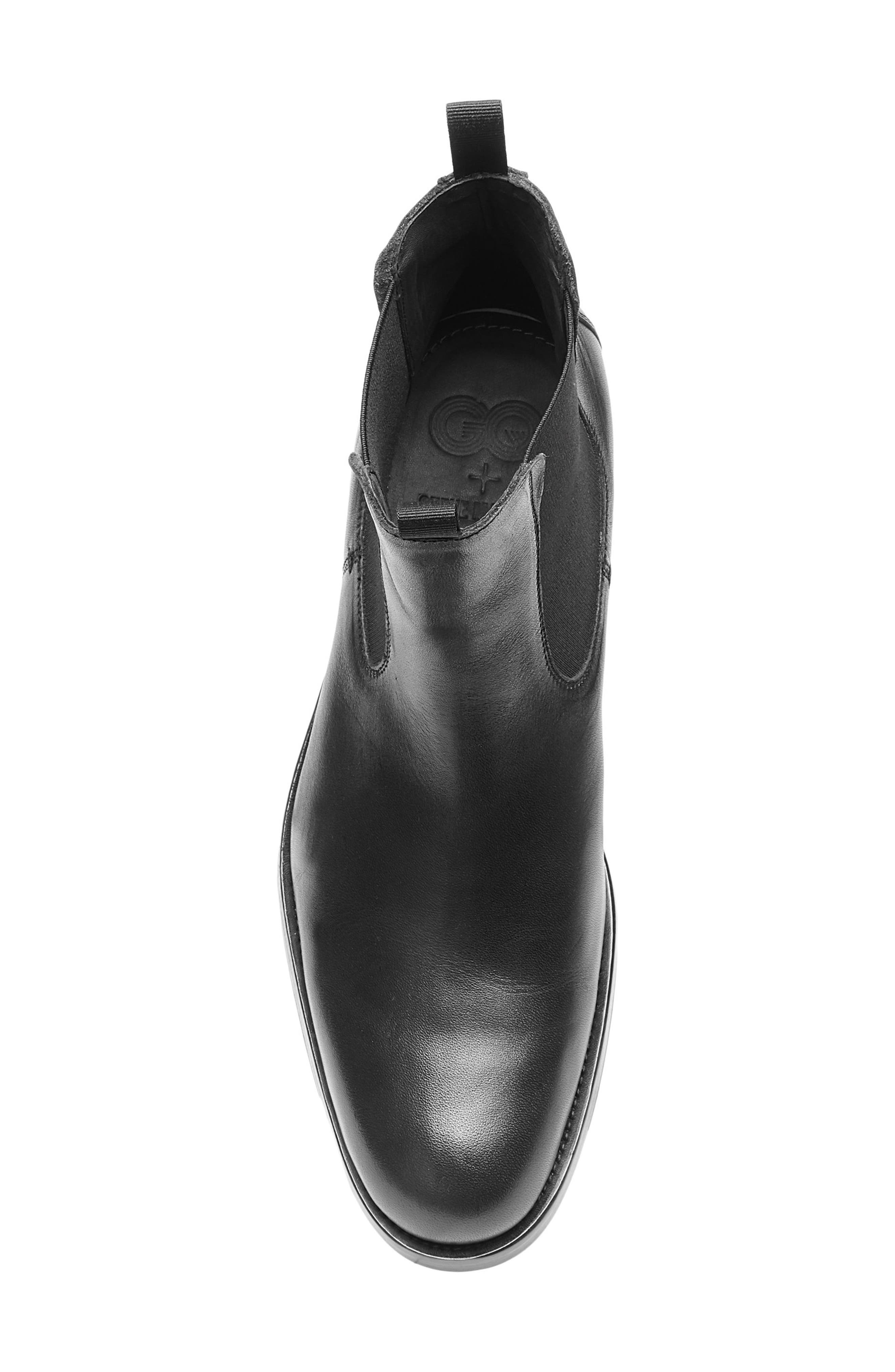 x GQ Nick Chelsea Boot,                             Alternate thumbnail 5, color,                             Black Leather