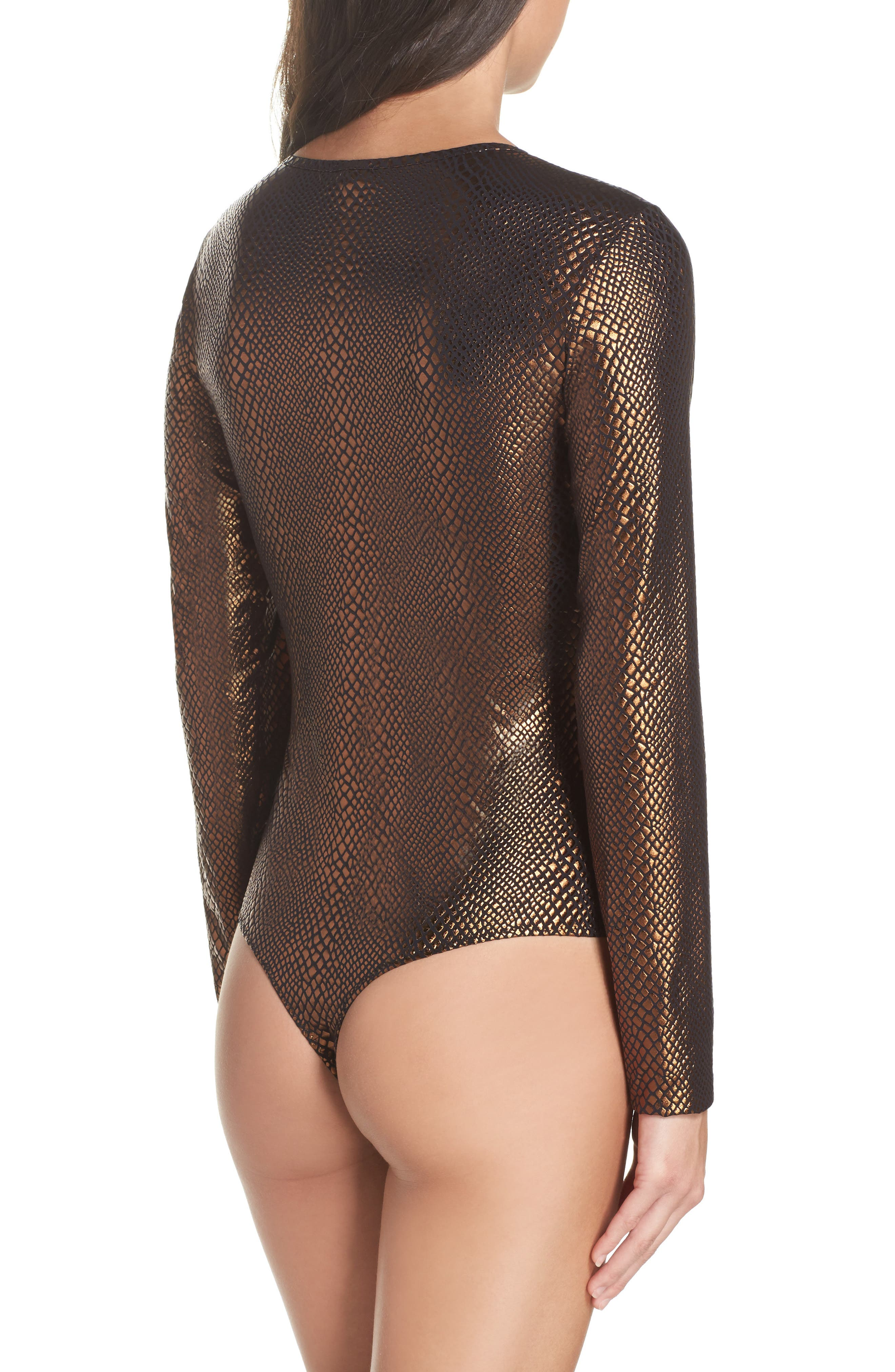 Alternate Image 2  - Cosabella Bisou Tex Thong Bodysuit
