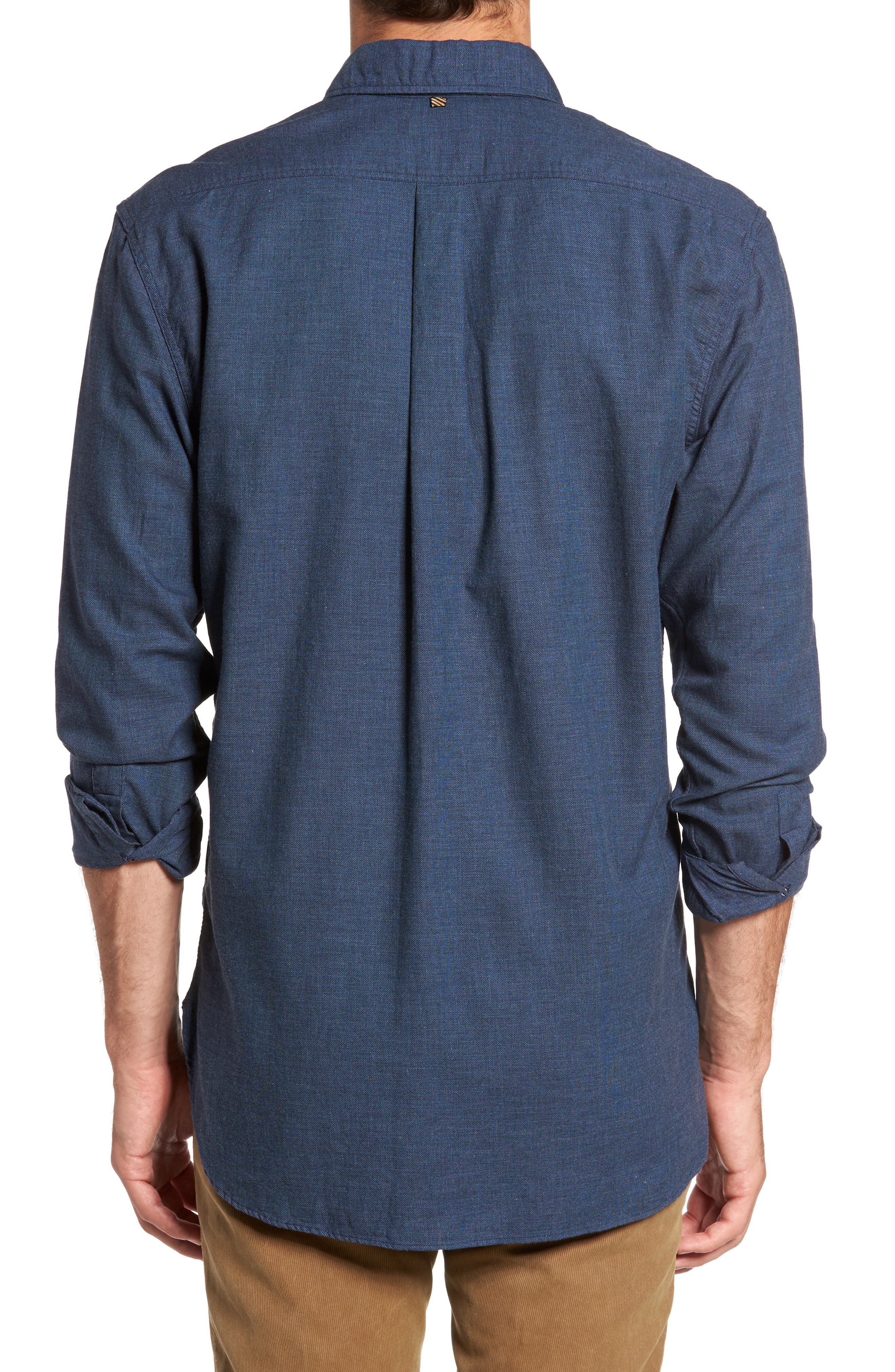 Standard Fit Irvine Sport Shirt,                             Alternate thumbnail 2, color,                             Navy