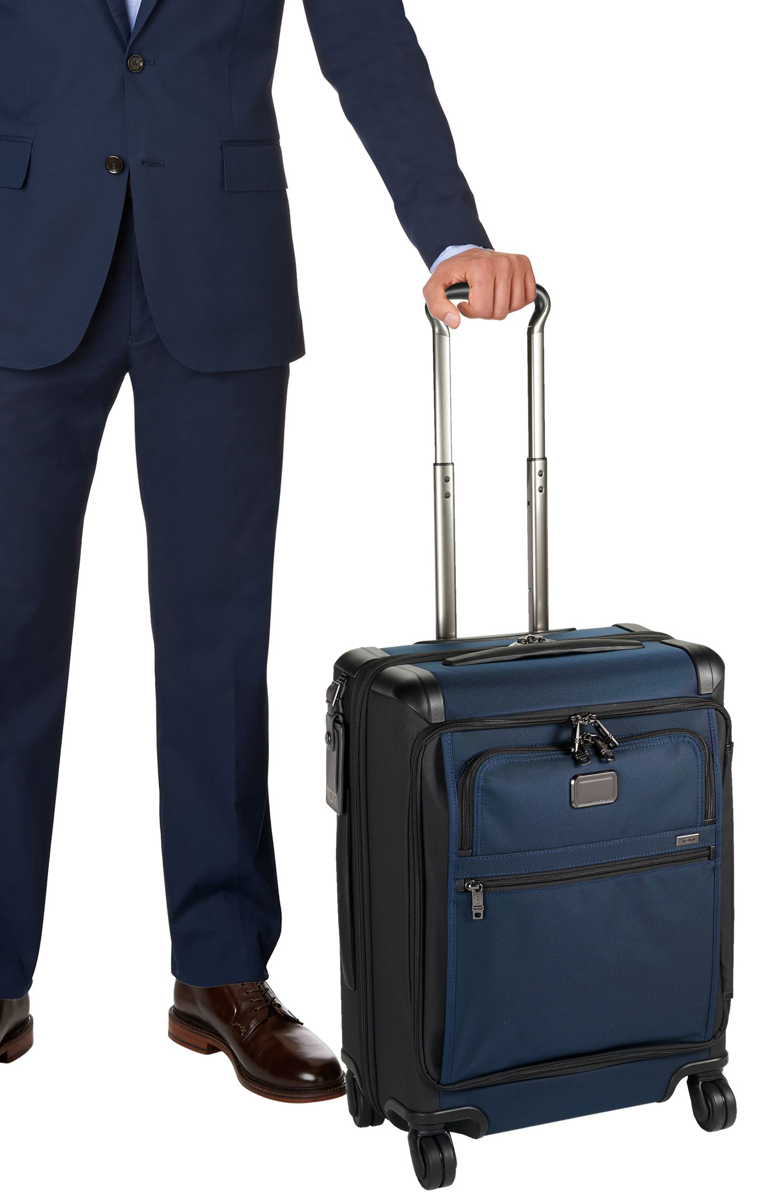 Alpha 2 22-Inch Continental Carry-On,                             Alternate thumbnail 6, color,                             Navy/ Black