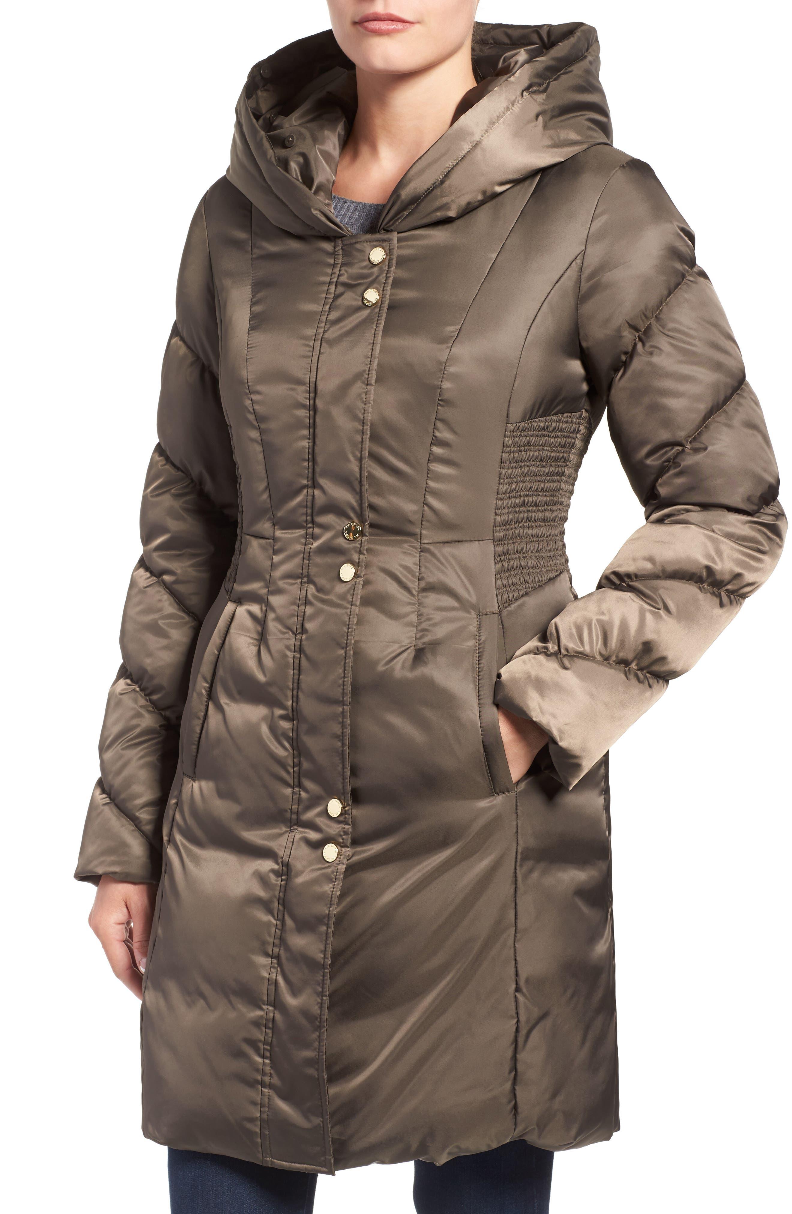 Alternate Image 4  - Via Spiga Water Repellent Quilted Puffer Coat with Faux Fur Trim