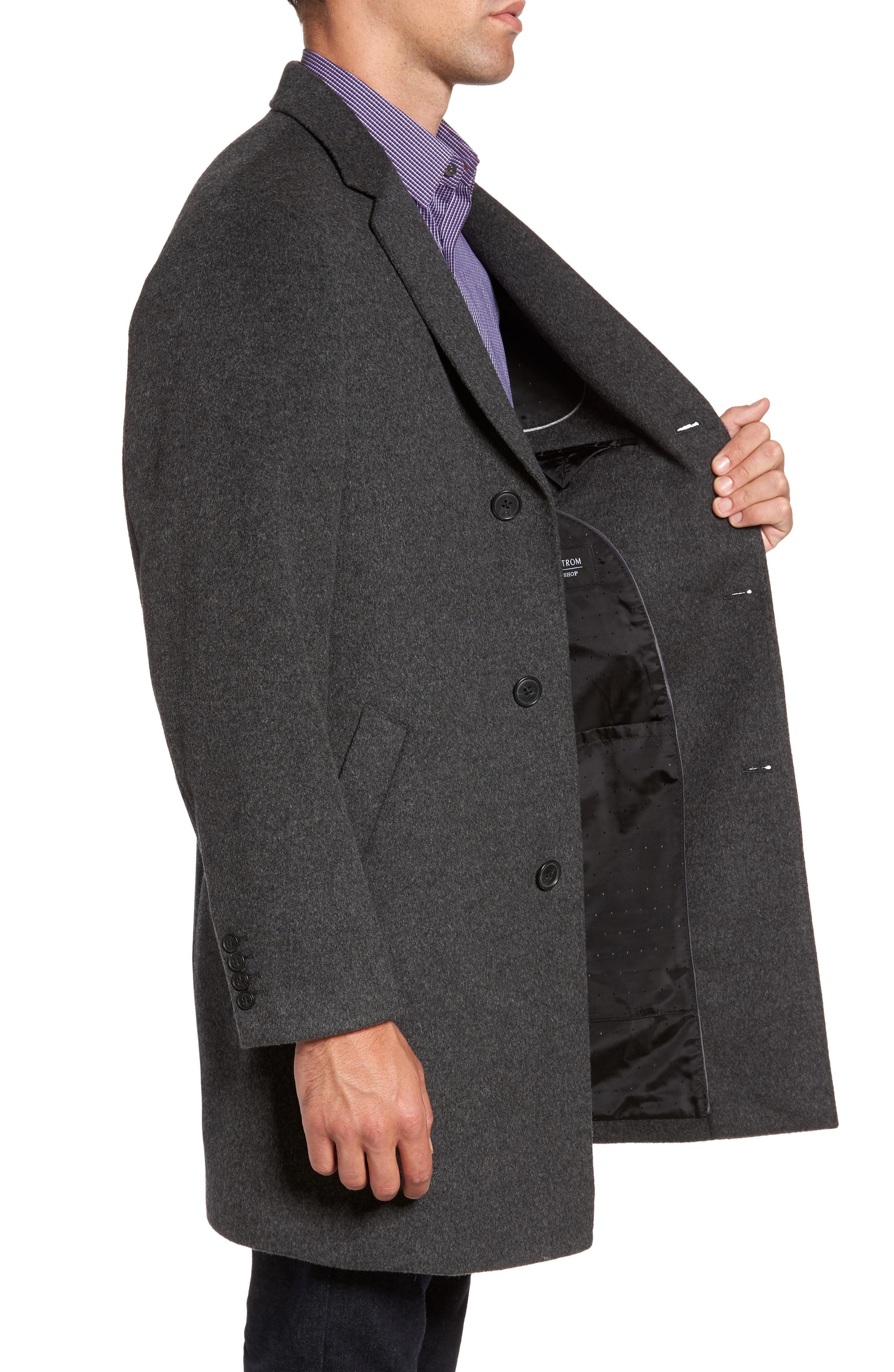 Alternate Image 3  - Nordstrom Men's Shop Mason Wool & Cashmere Overcoat
