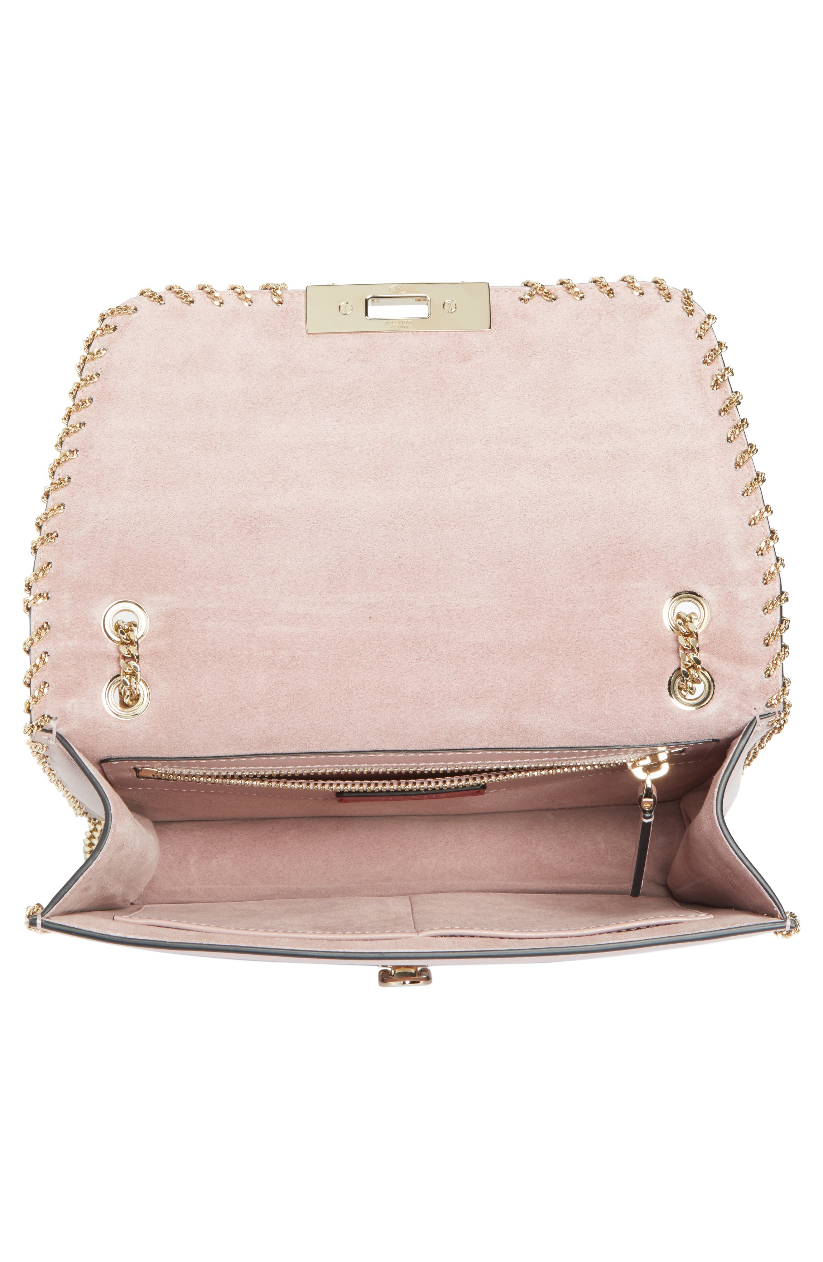 Demilune Whipstitch Leather Shoulder Bag,                             Alternate thumbnail 2, color,                             Lipstick