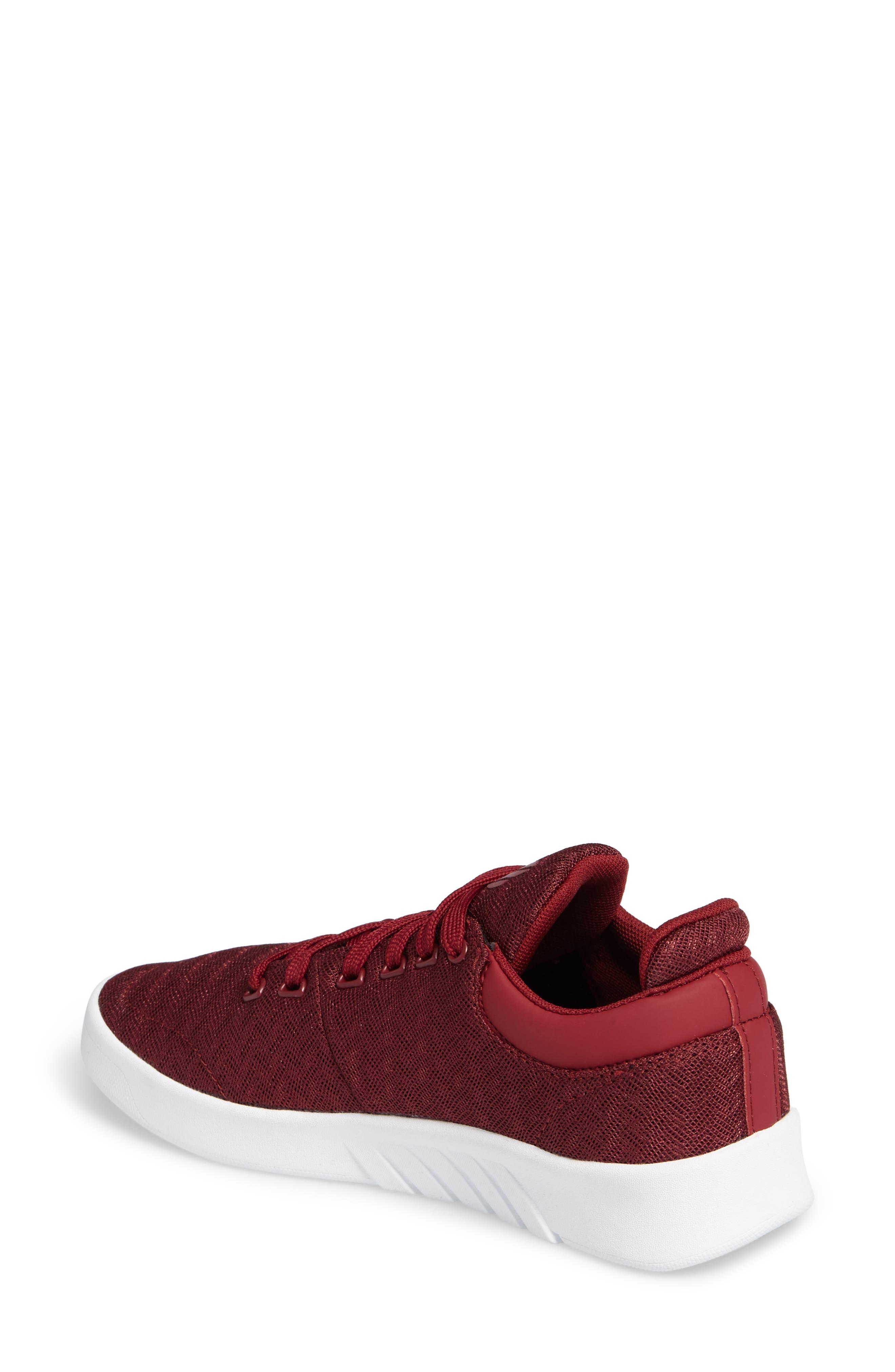 Aero Trainer T Sneaker,                             Alternate thumbnail 2, color,                             Tibetan Red/ White