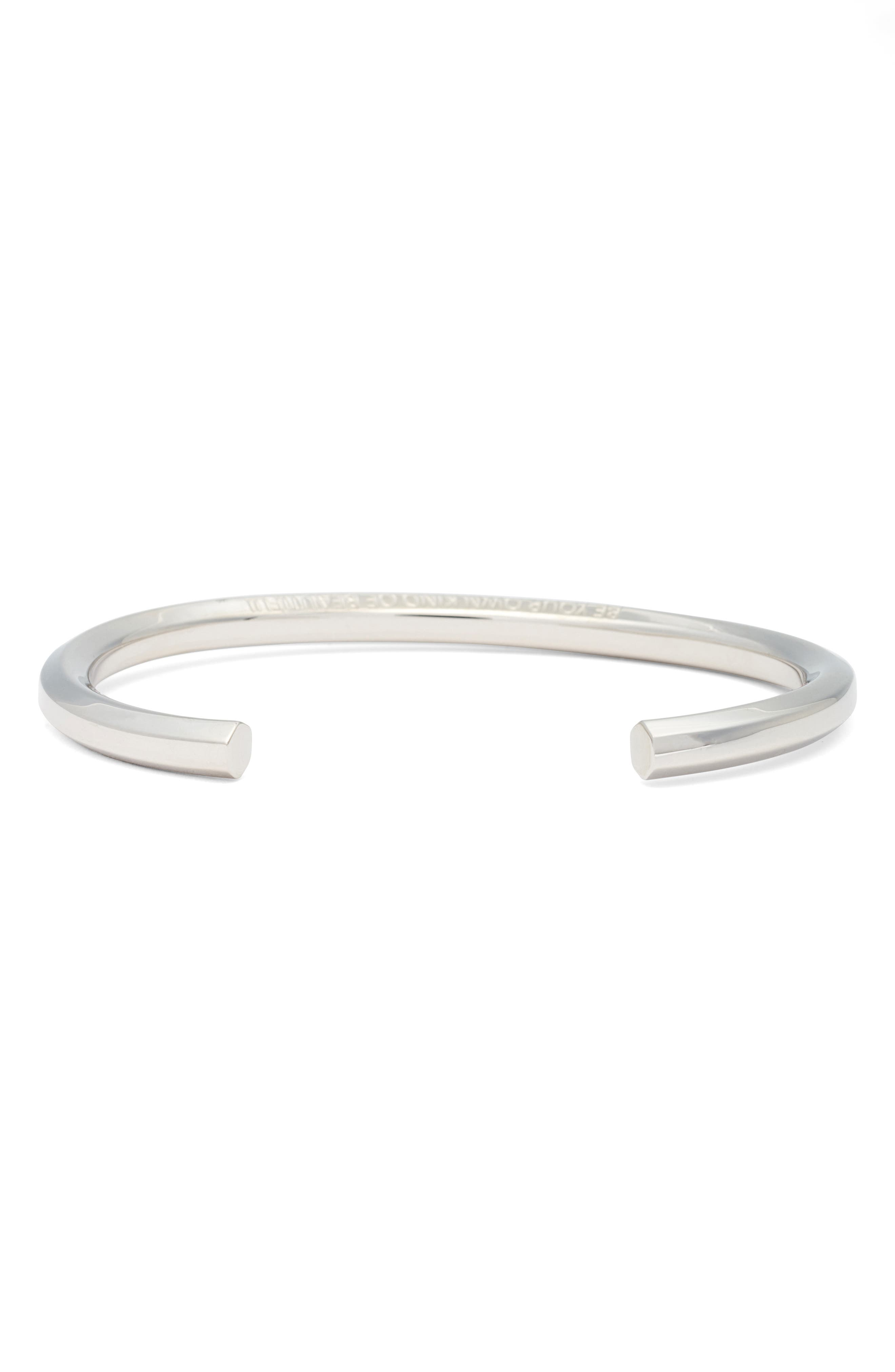 Be Your Own Kind of Beautiful Cuff,                             Alternate thumbnail 2, color,                             Silver