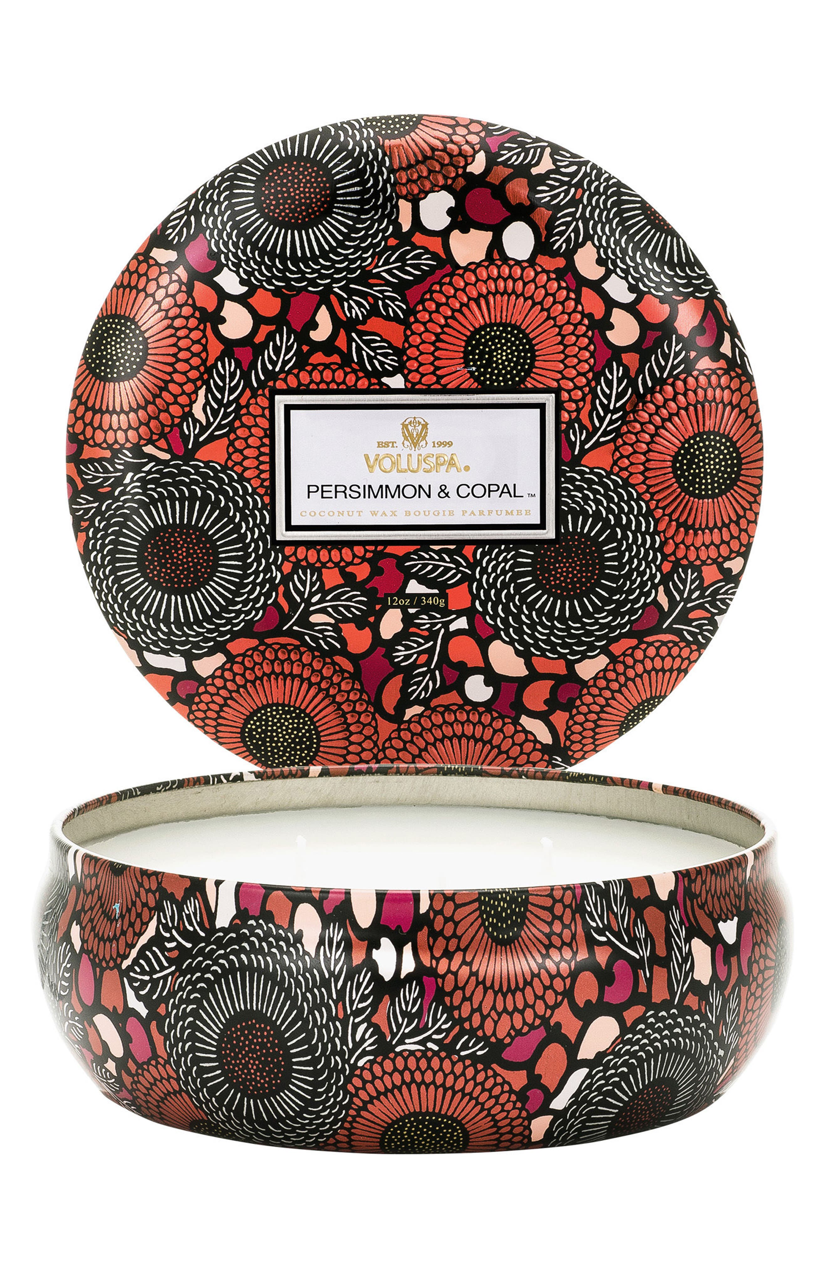 Japonica - Persimmon & Copal 3-Wick Candle,                         Main,                         color, Persimmon/ Copal