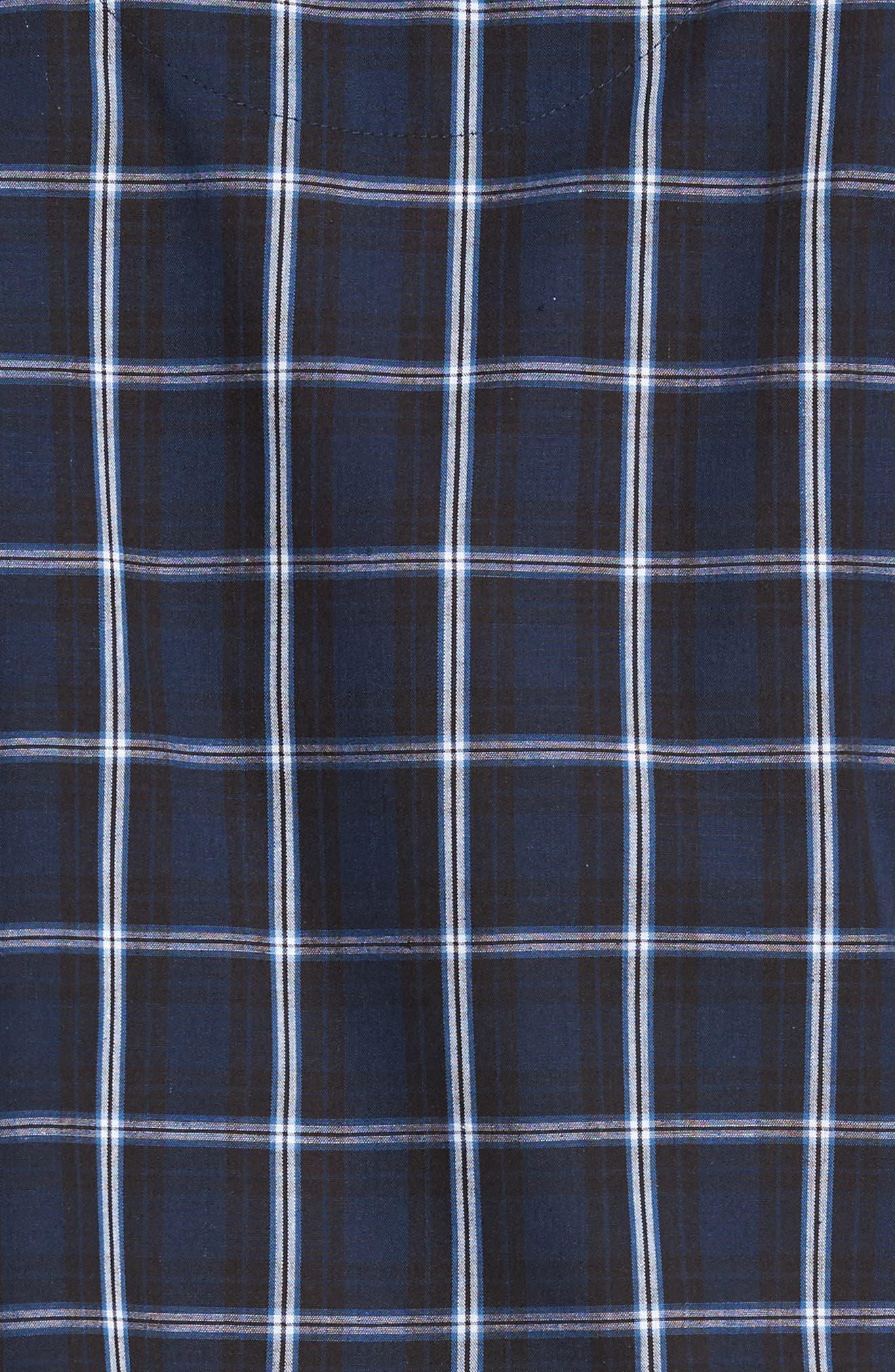 Channing Windowpane Pajama Set,                             Alternate thumbnail 5, color,                             Navy