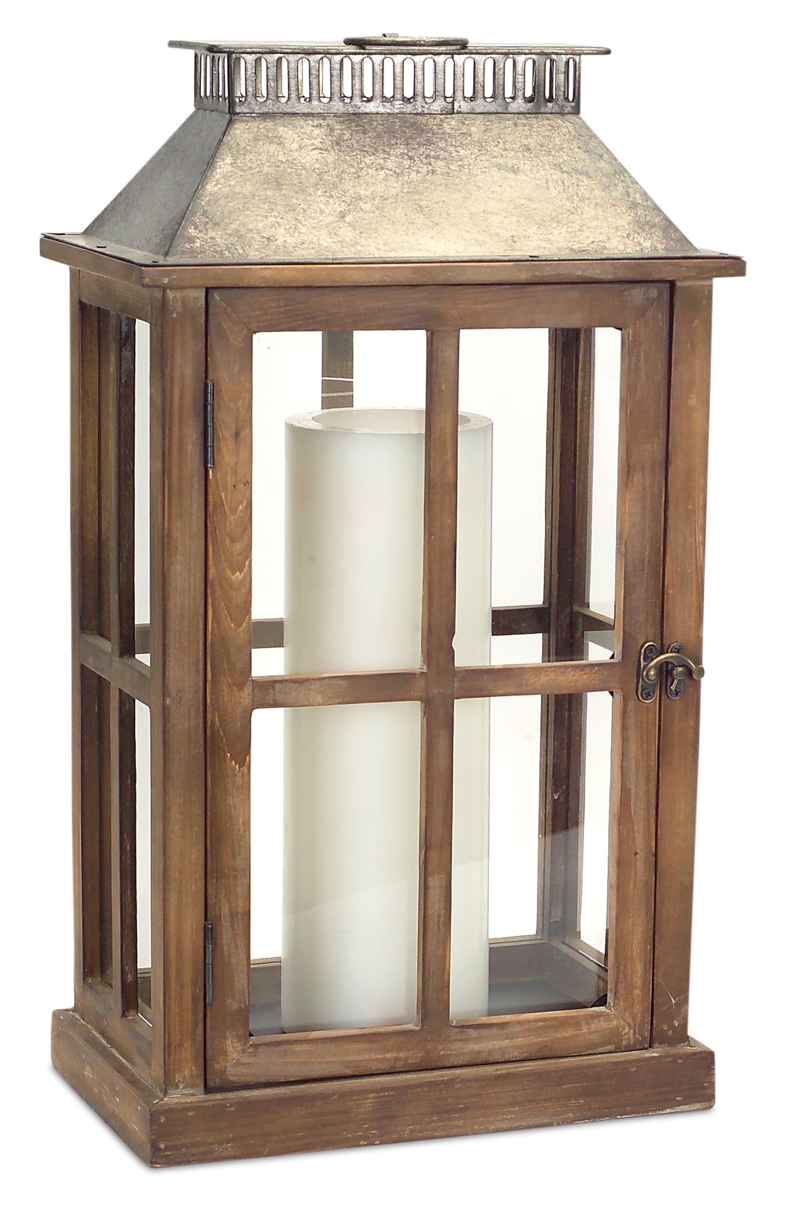 Alternate Image 5  - Melrose Gifts Decorative Wood & Metal Lantern