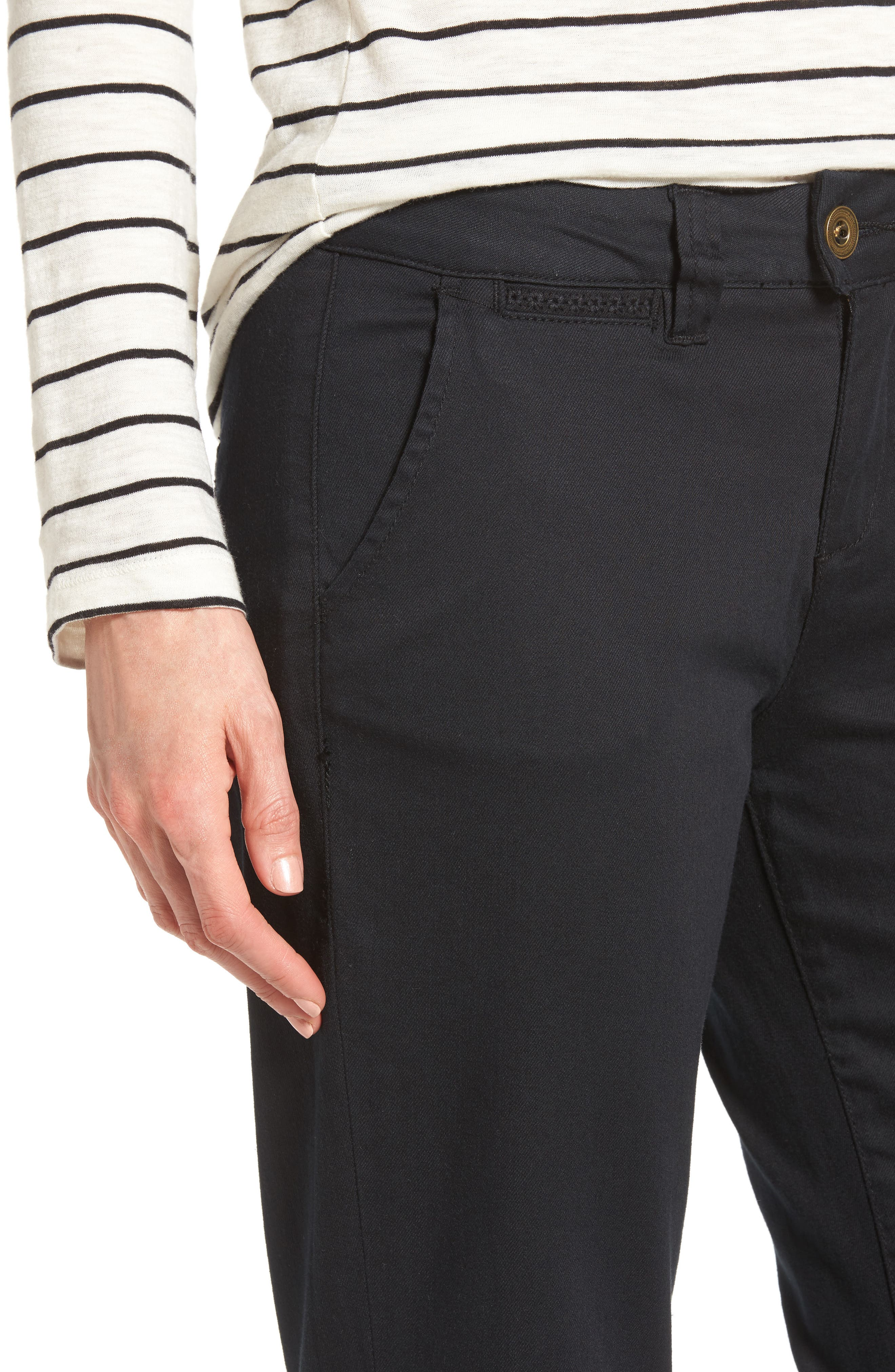 Alternate Image 4  - Jag Jeans Standard Stretch Twill Trousers (Regular & Petite)