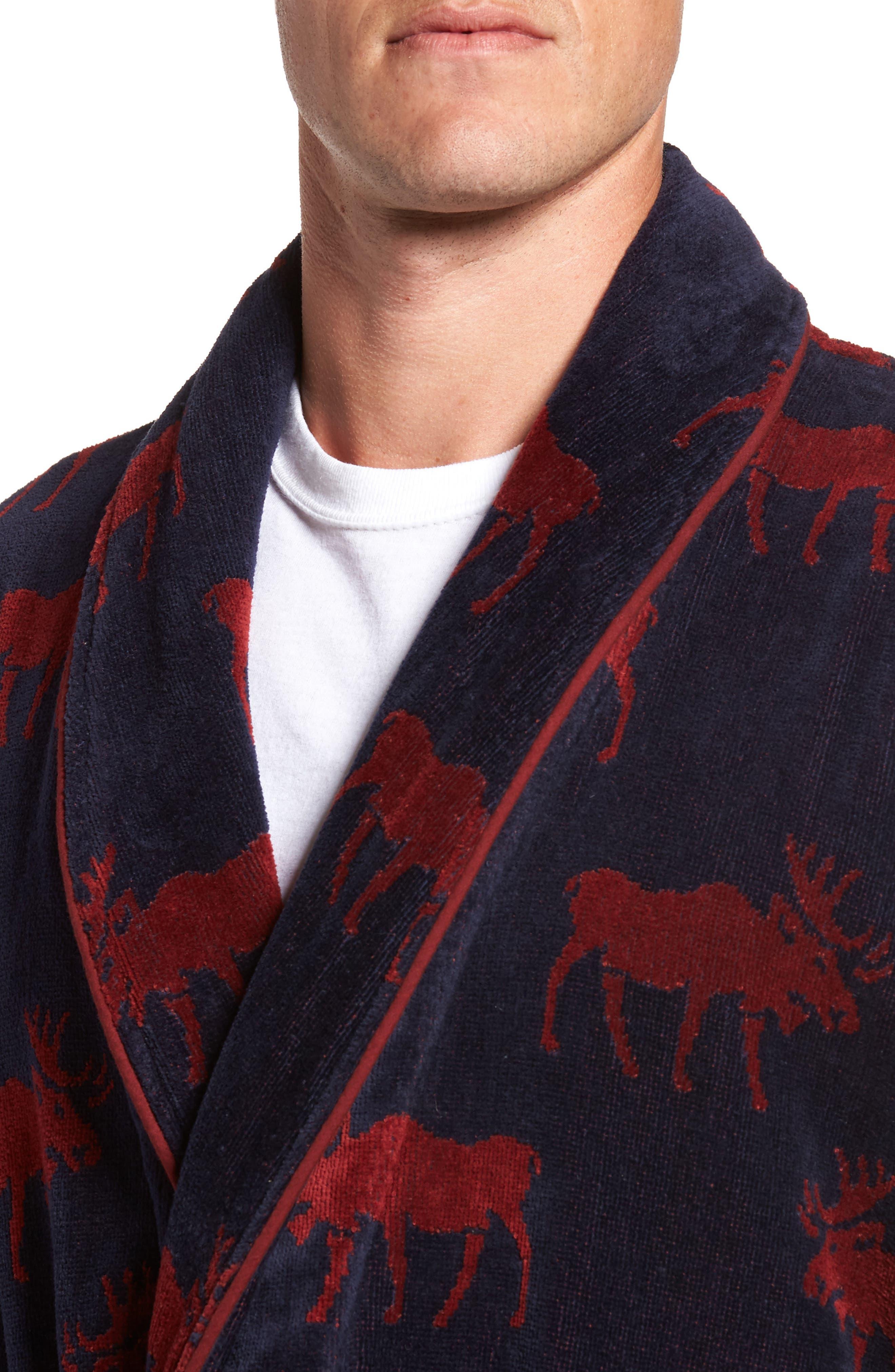 Happy Camper Robe,                             Alternate thumbnail 4, color,                             Moose