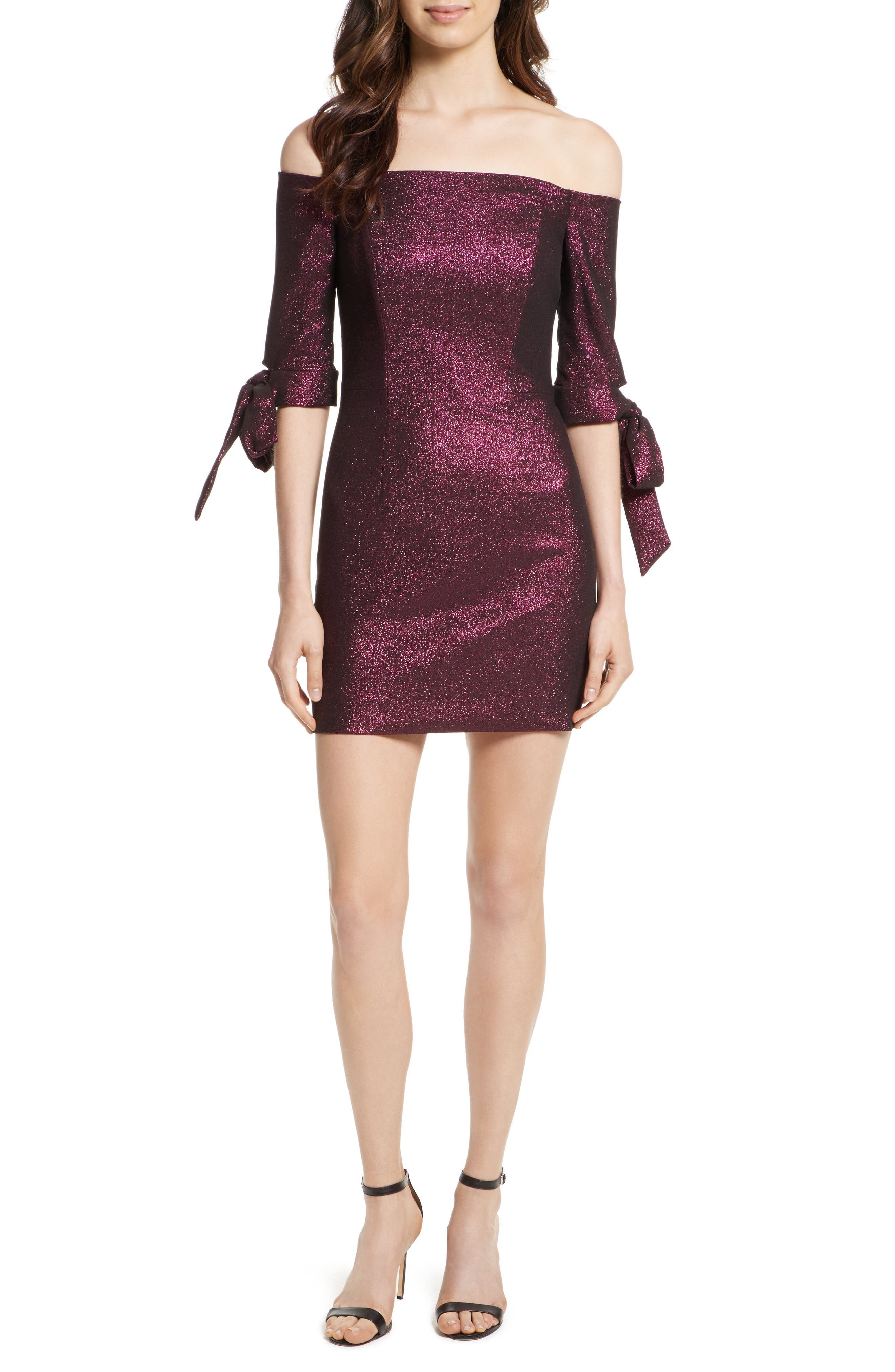 Alternate Image 1 Selected - Milly Stretch Metallic Minidress