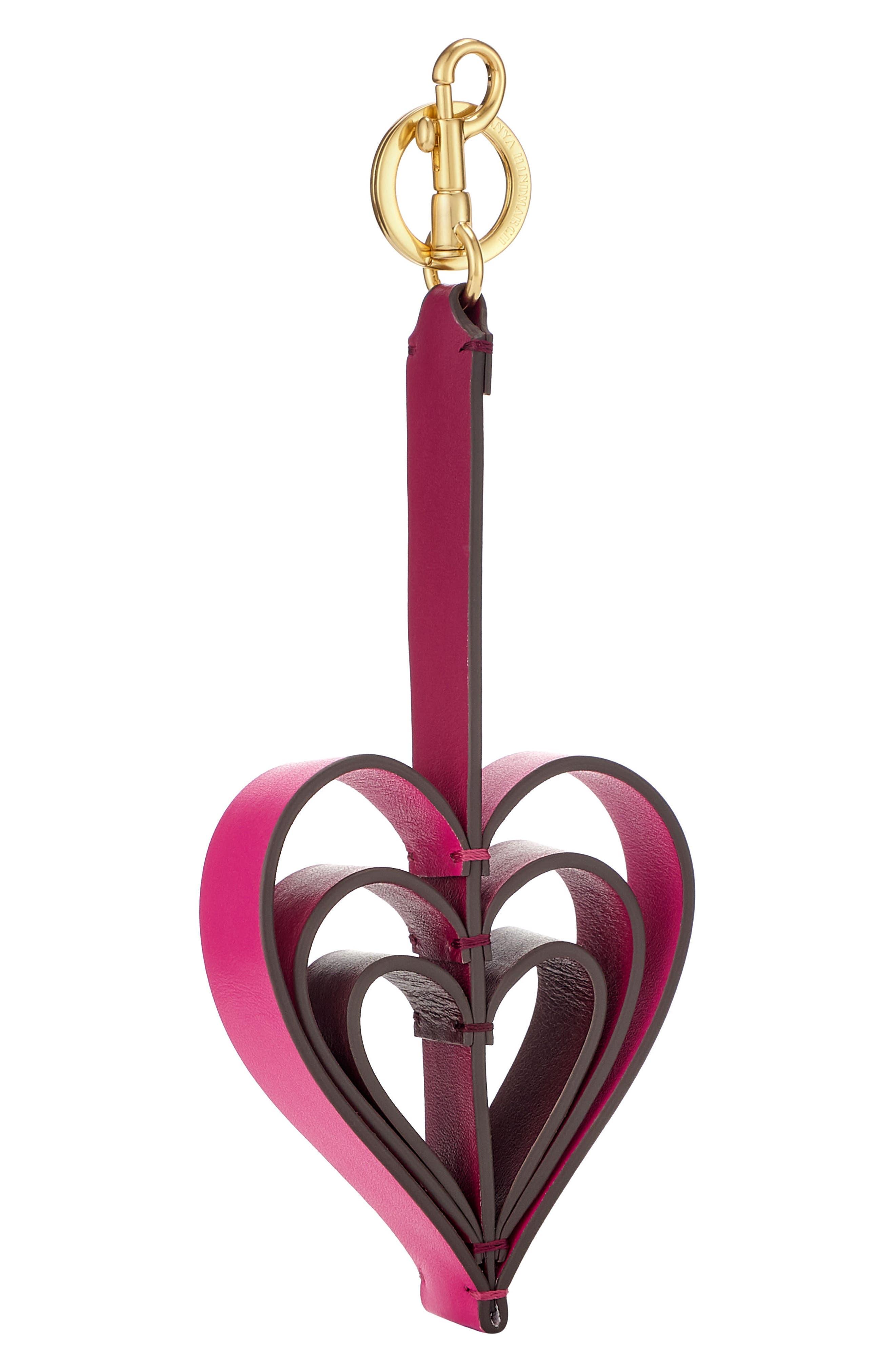 ANYA HINDMARCH Tassel Heart Circus Leather Bag Charm