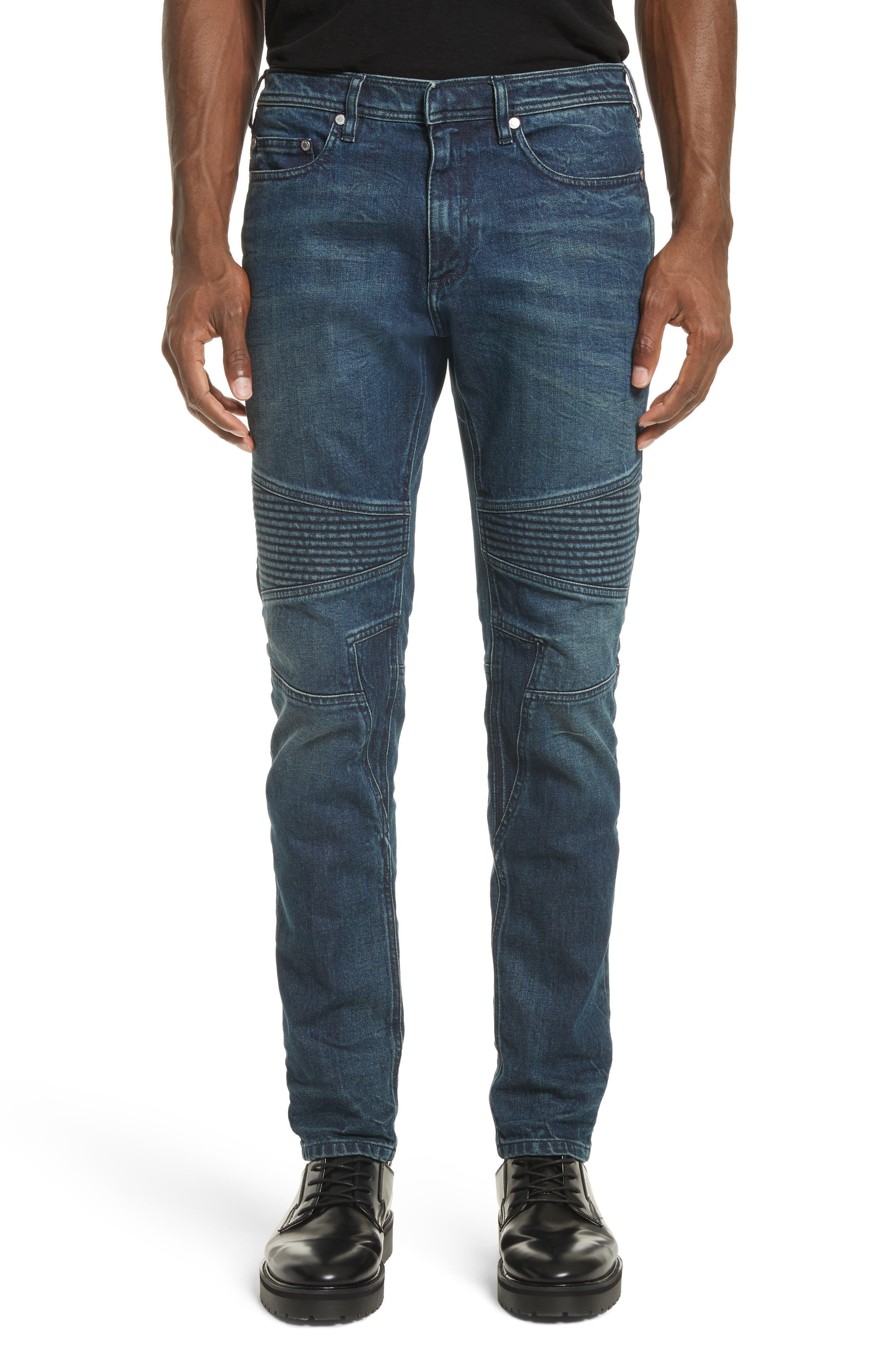 Moto Jeans,                             Main thumbnail 1, color,                             Indigo Blue