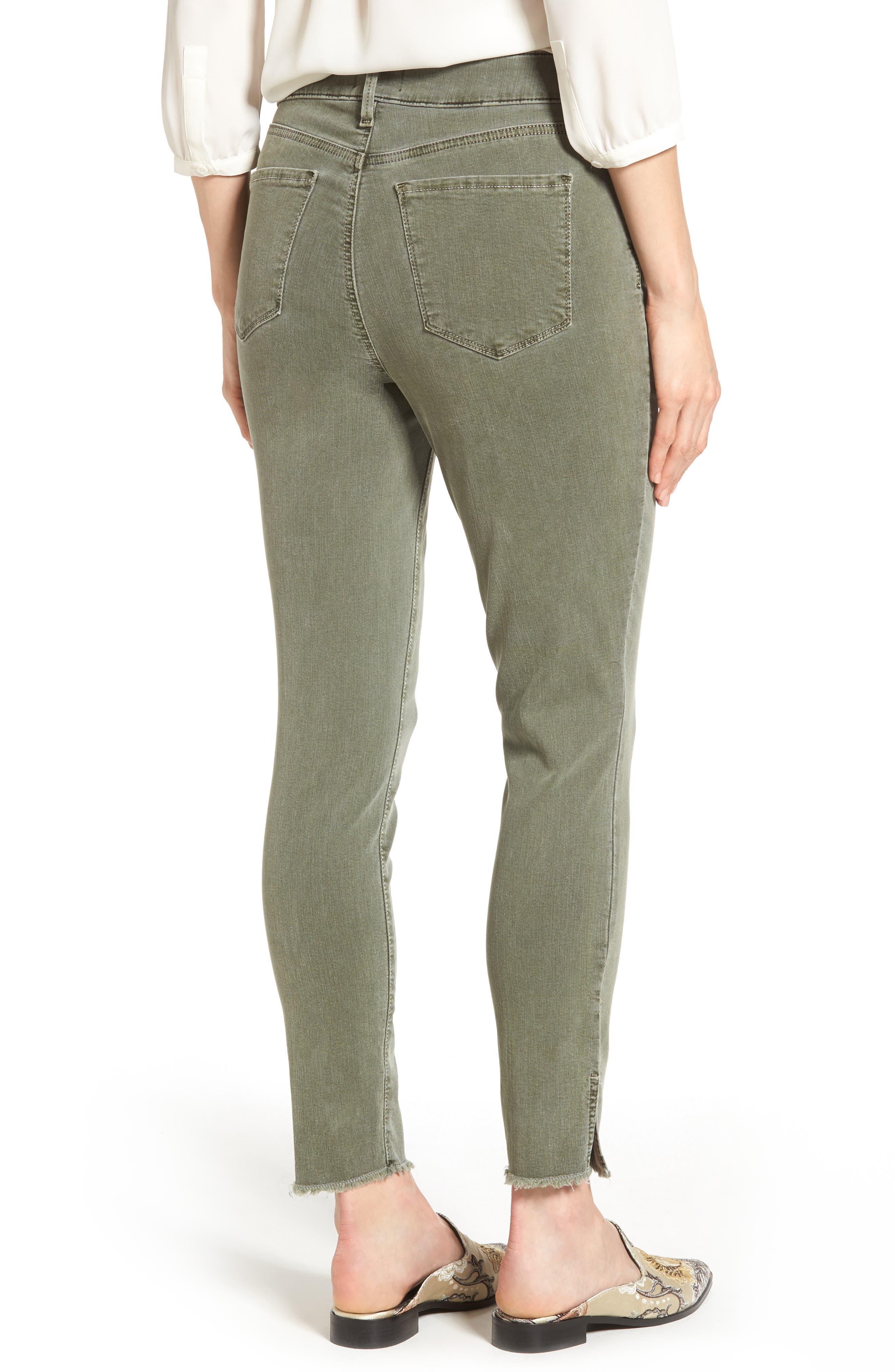 Alternate Image 2  - NYDJ Ami Frayed Hem Stretch Skinny Ankle Jeans (Regular & Petite)