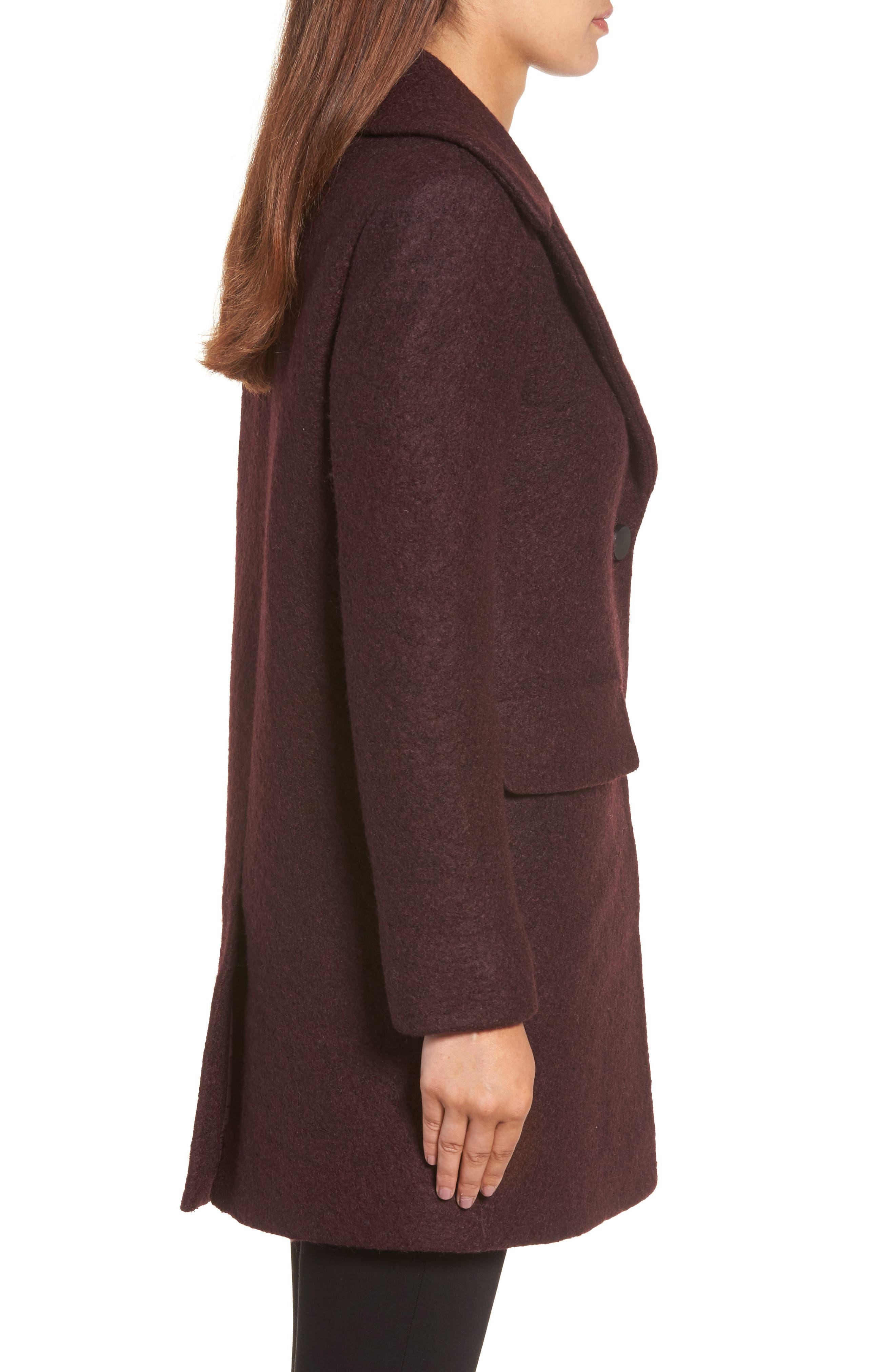 Alternate Image 3  - Kenneth Cole New York Wool Blend Bouclé Coat