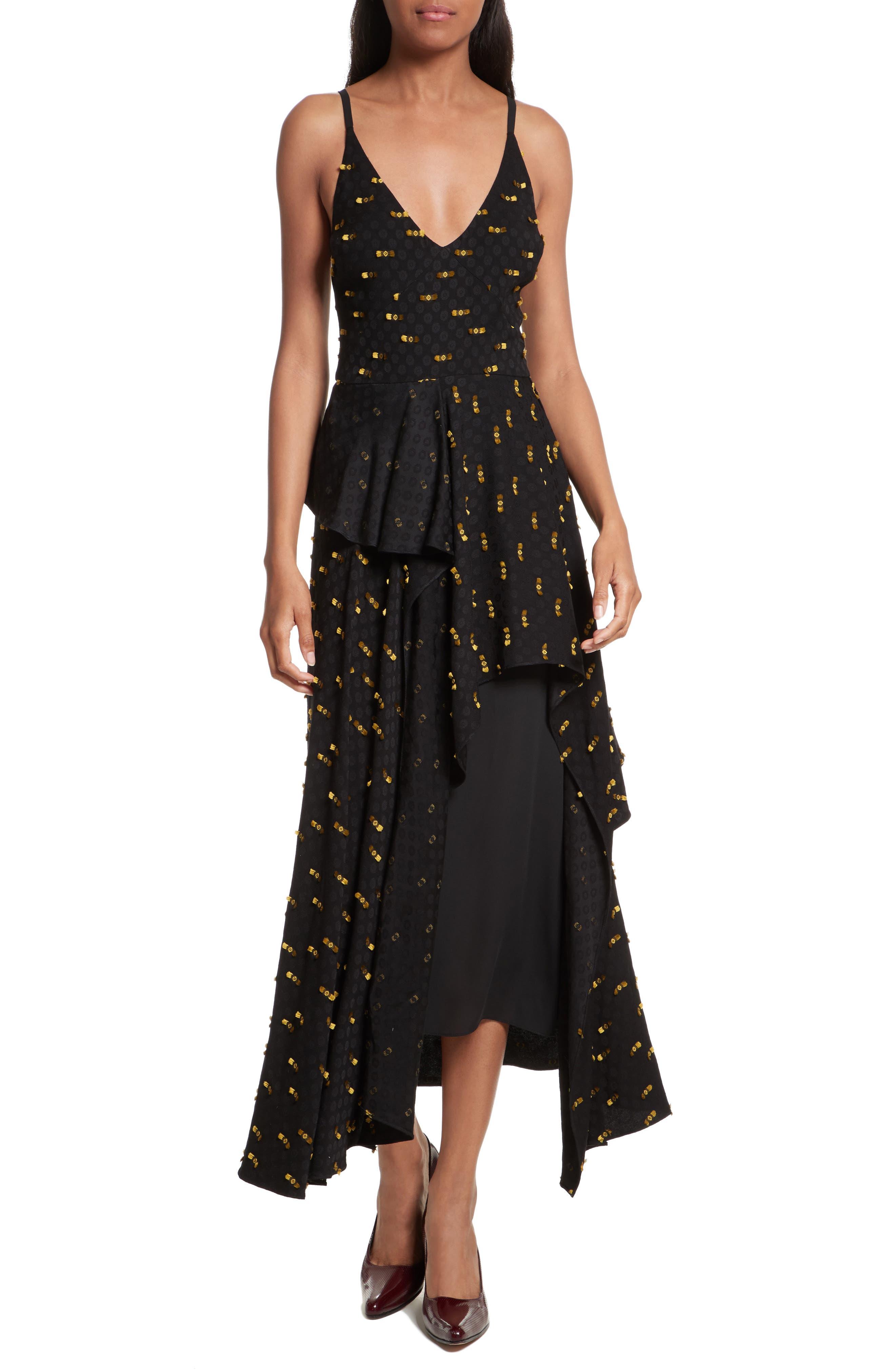 Catch Crepe Maxi Dress,                         Main,                         color, Black