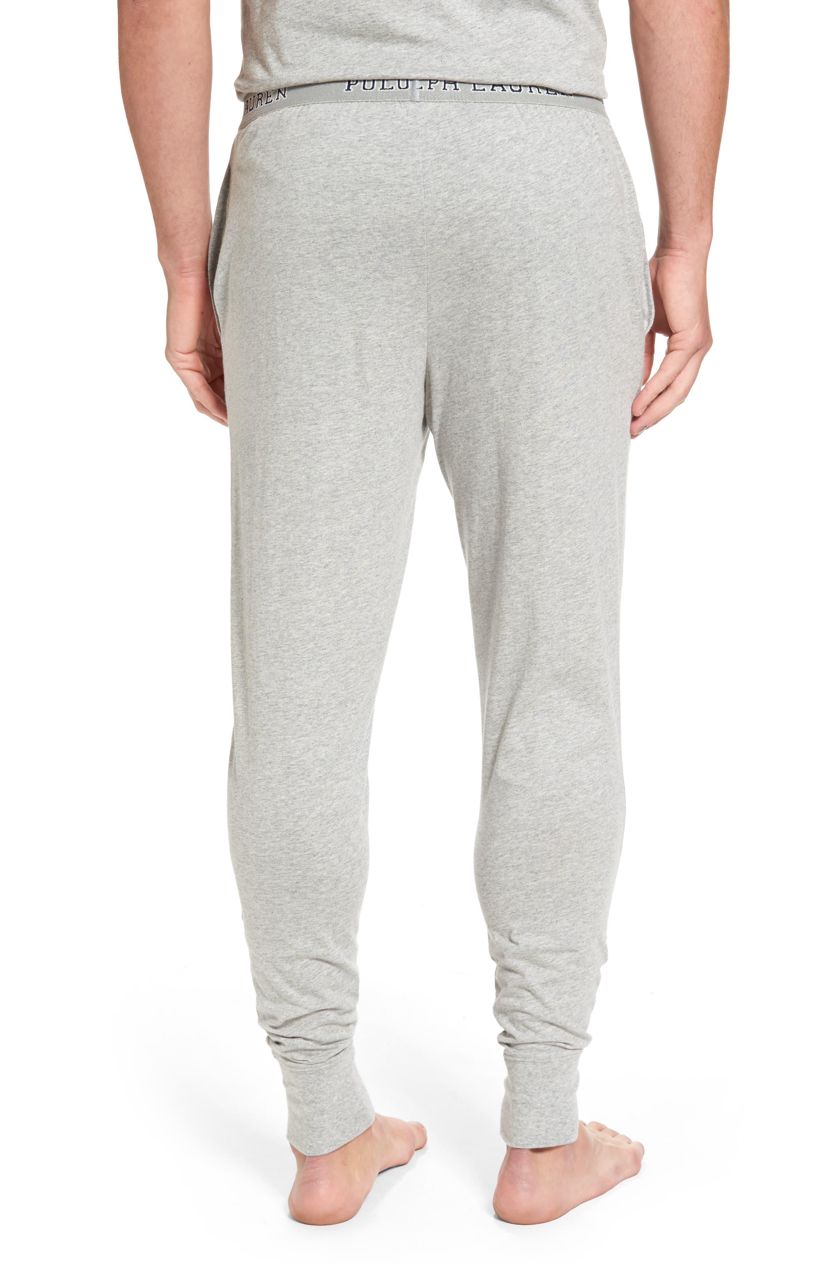 Cotton Jogger Lounge Pants,                             Alternate thumbnail 2, color,                             Andover Heather