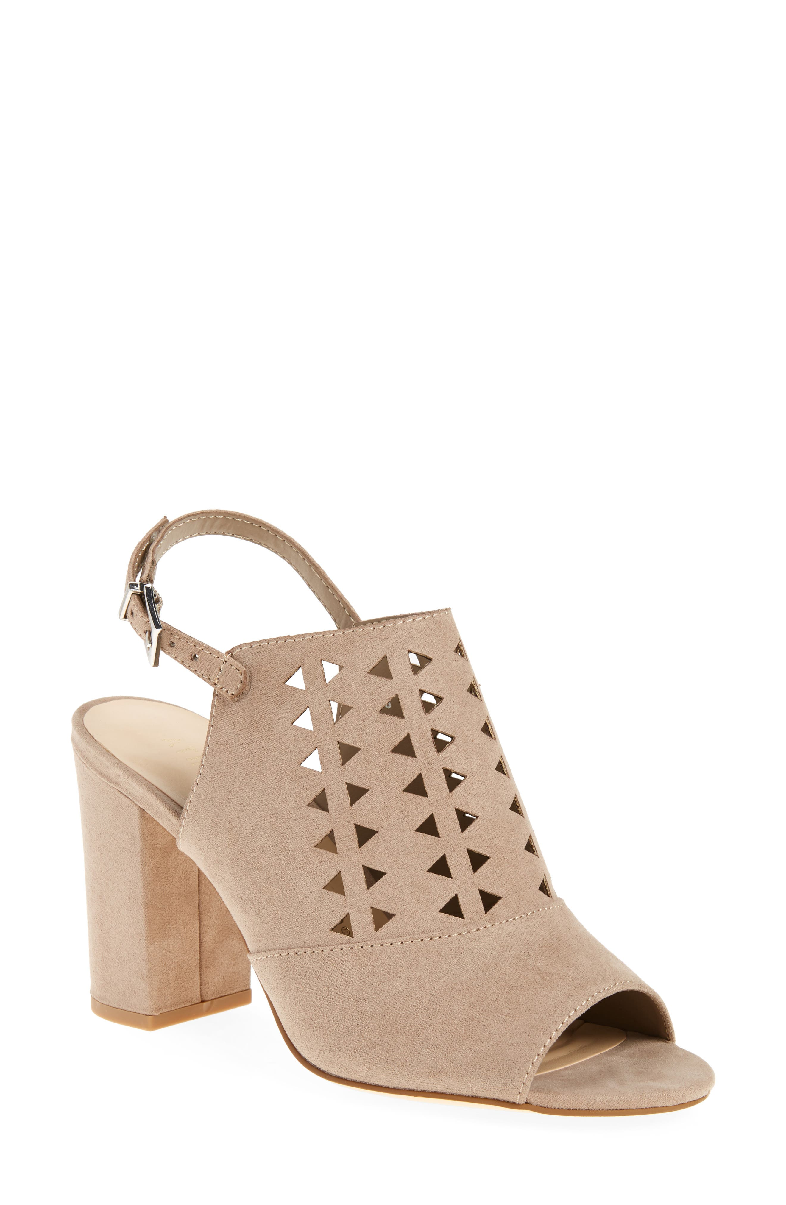 Nadiah Sandal,                         Main,                         color, Taupe Faux Suede