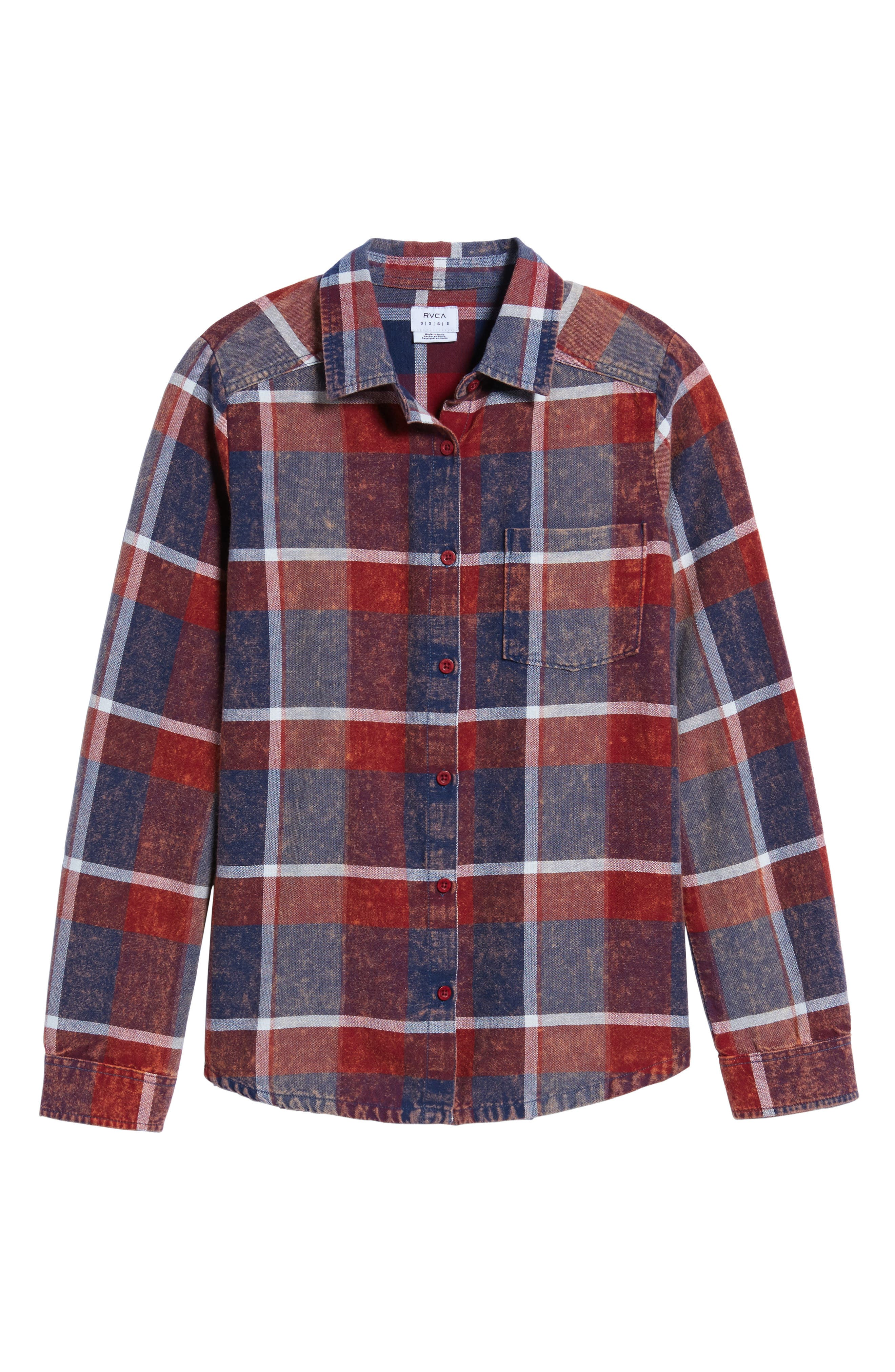 Alternate Image 6  - RVCA Pops Cotton Plaid Shirt