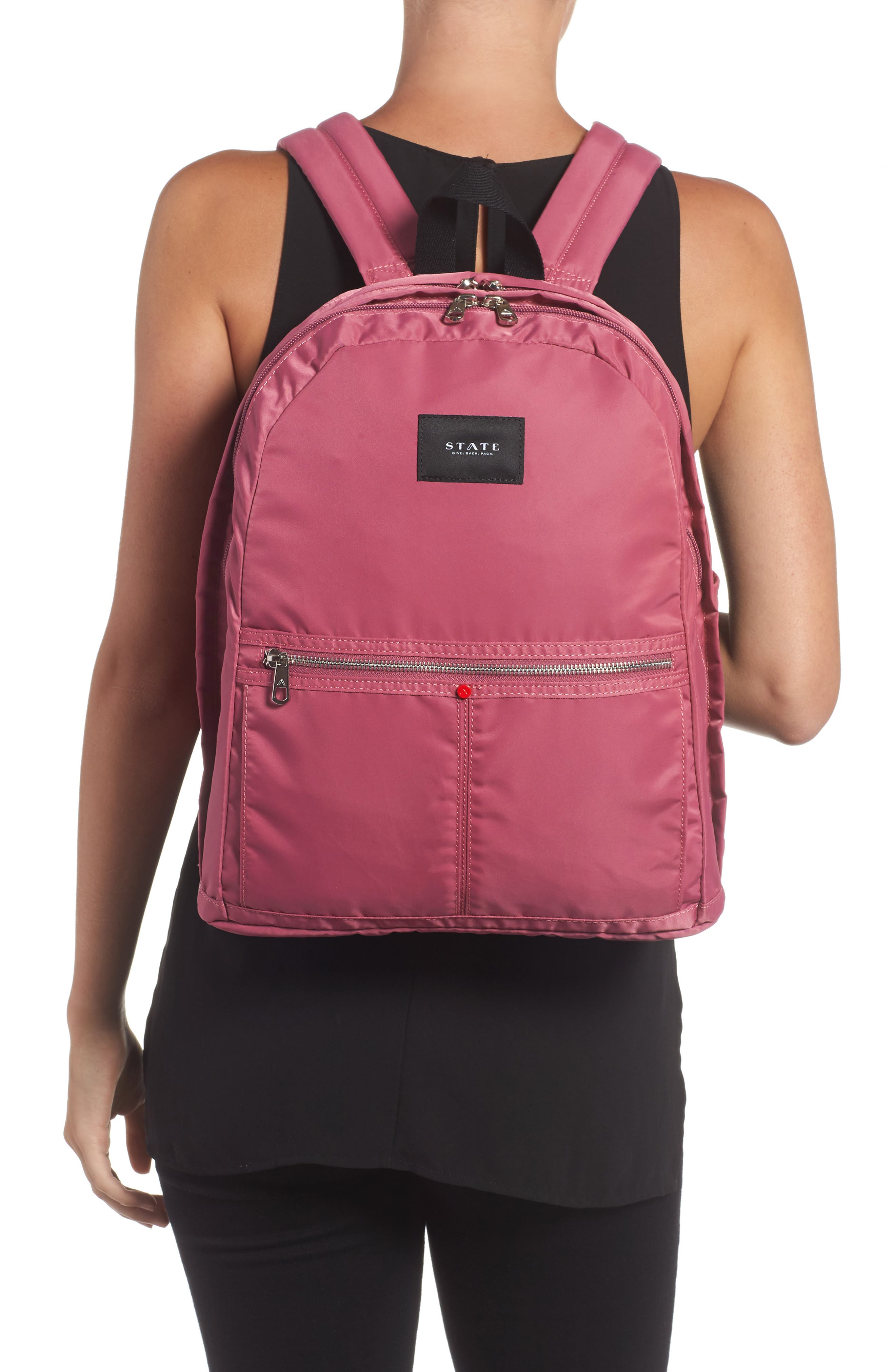 The Heights Kent Backpack,                             Alternate thumbnail 2, color,                             Red Violet