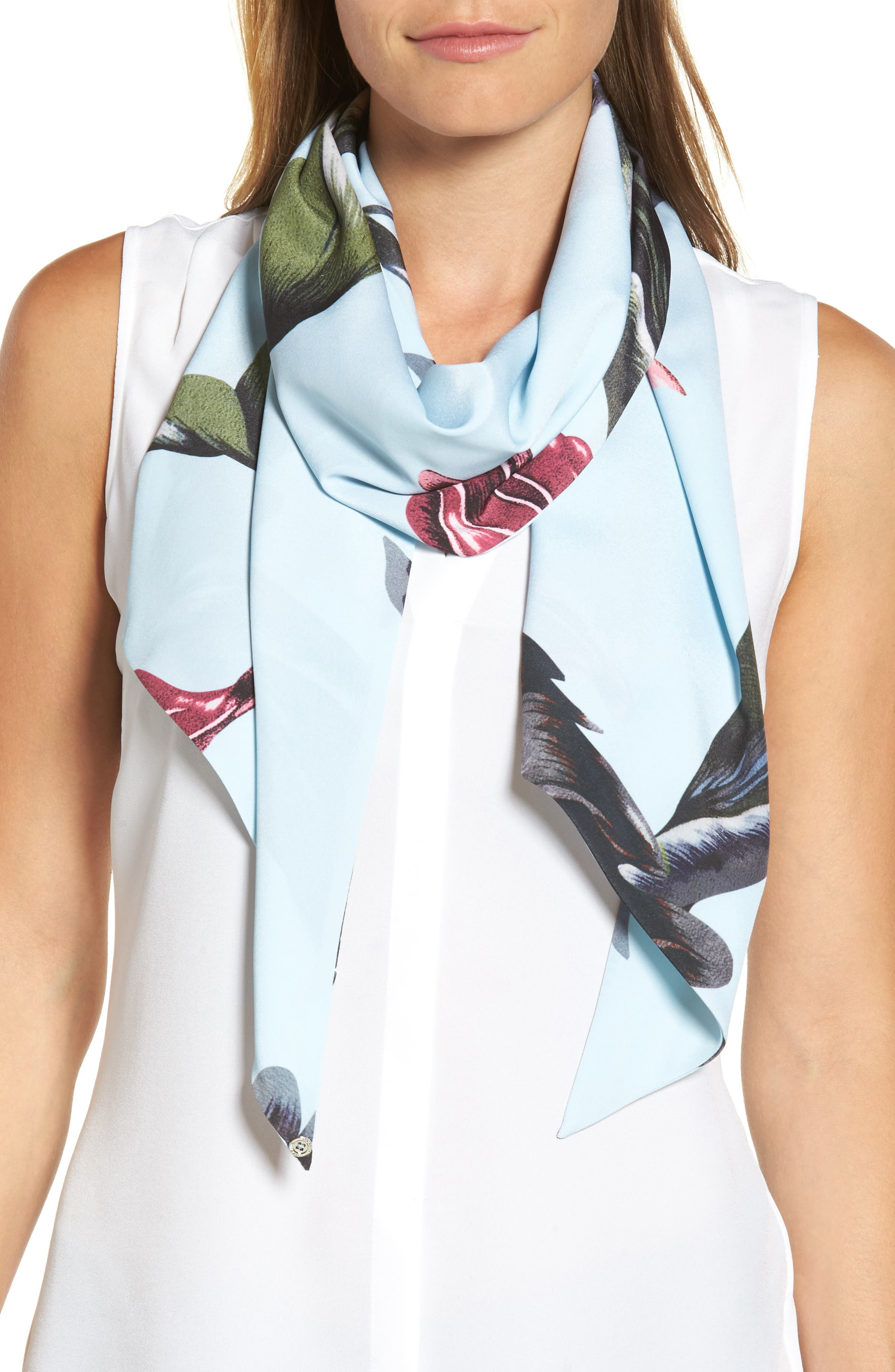 Eden Skinny Scarf,                             Main thumbnail 1, color,                             Pale Blue