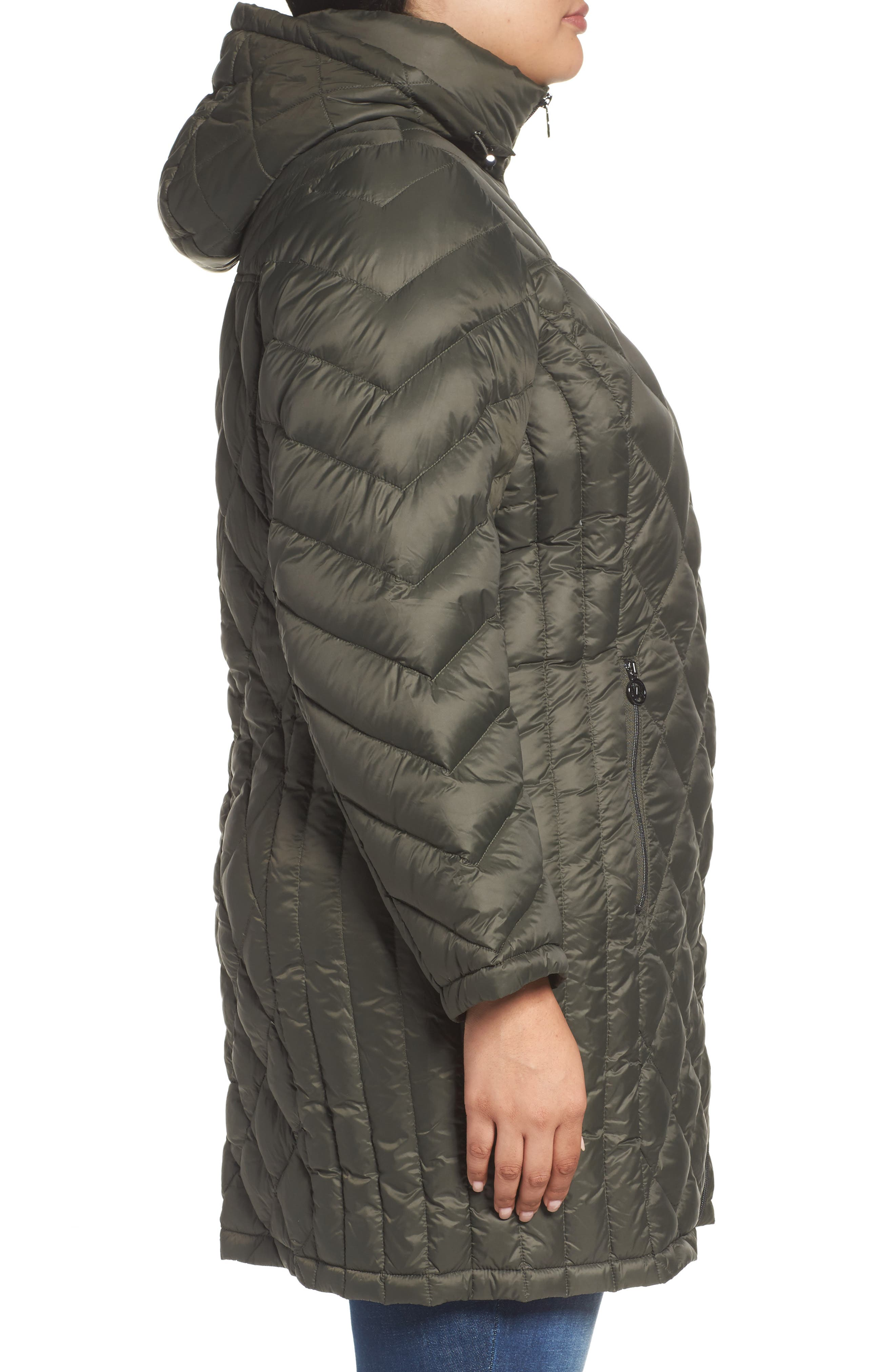 Alternate Image 3  - MICHAEL Michael Kors Packable Down Jacket (Plus Size)